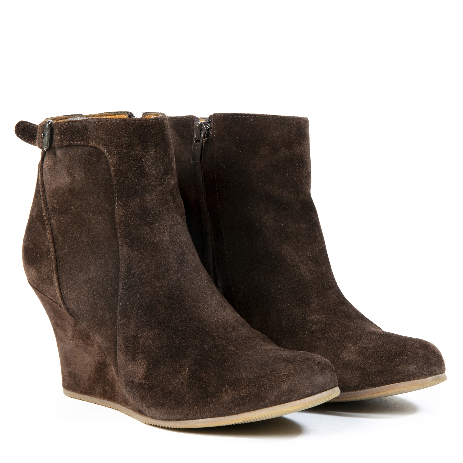 Lanvin Suede Wedge Boots for the best price