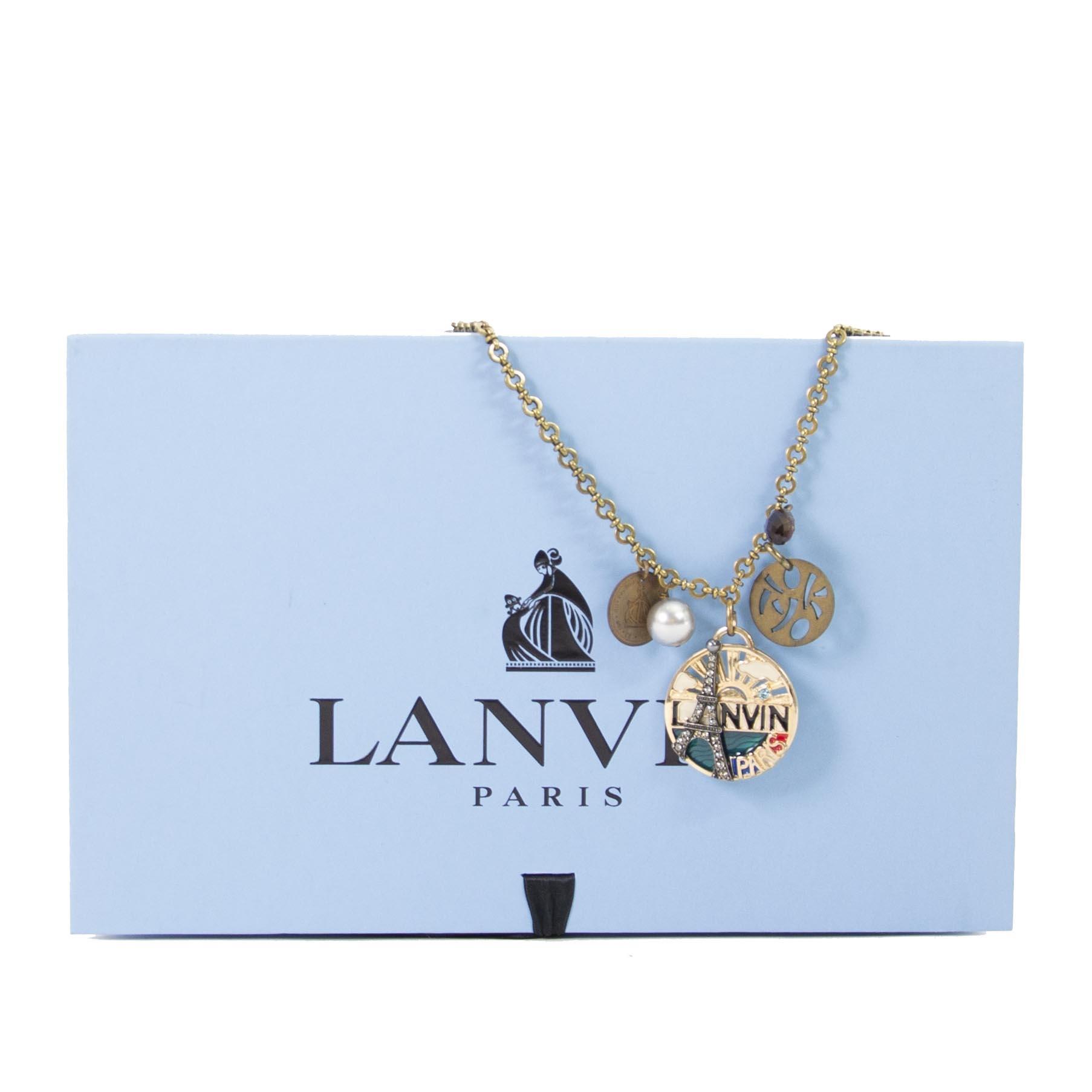 lanvin eiffel toren parijs ketting nu te koop bij labellov vintage mode webshop antwerpen belgie