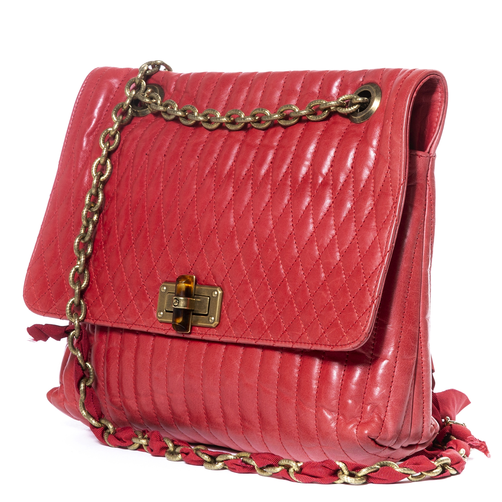Lanvin Happy Red Medium Shoulder Bag te koop bij Labellov