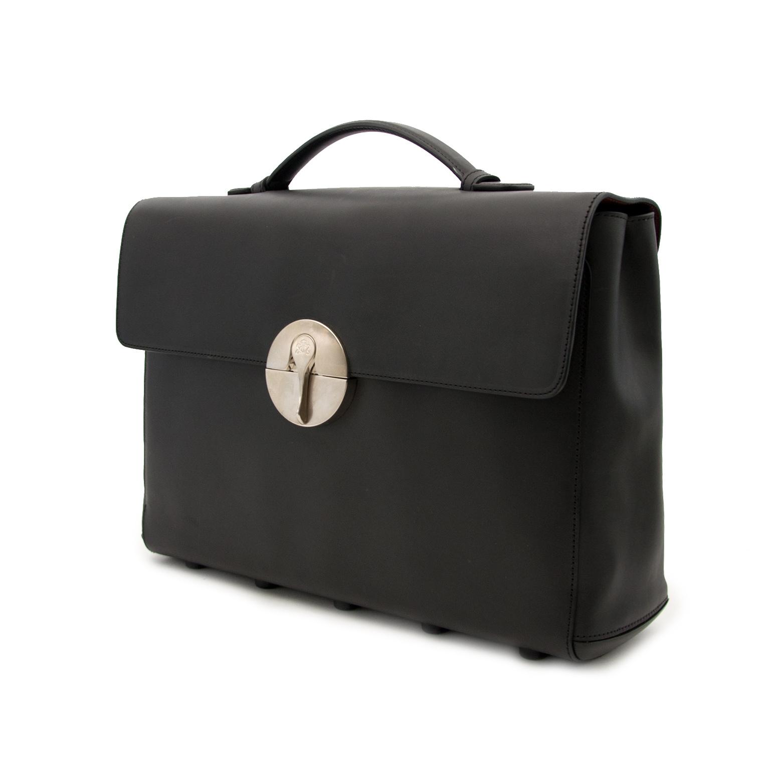 Achetez sans risque un vrai Lebeau-Courally 'Coqueror' porte-documents sur www.labelleov.com