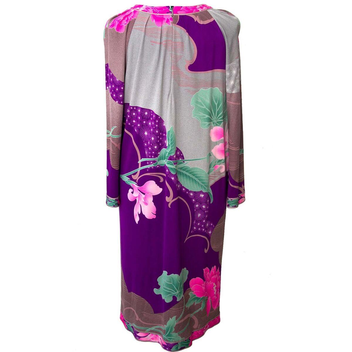 Koop authentieke tweedehands Leonard paars roze bloemen jurken aan een eerlijke prijs bij LabelLOV. Veilig online shoppen.