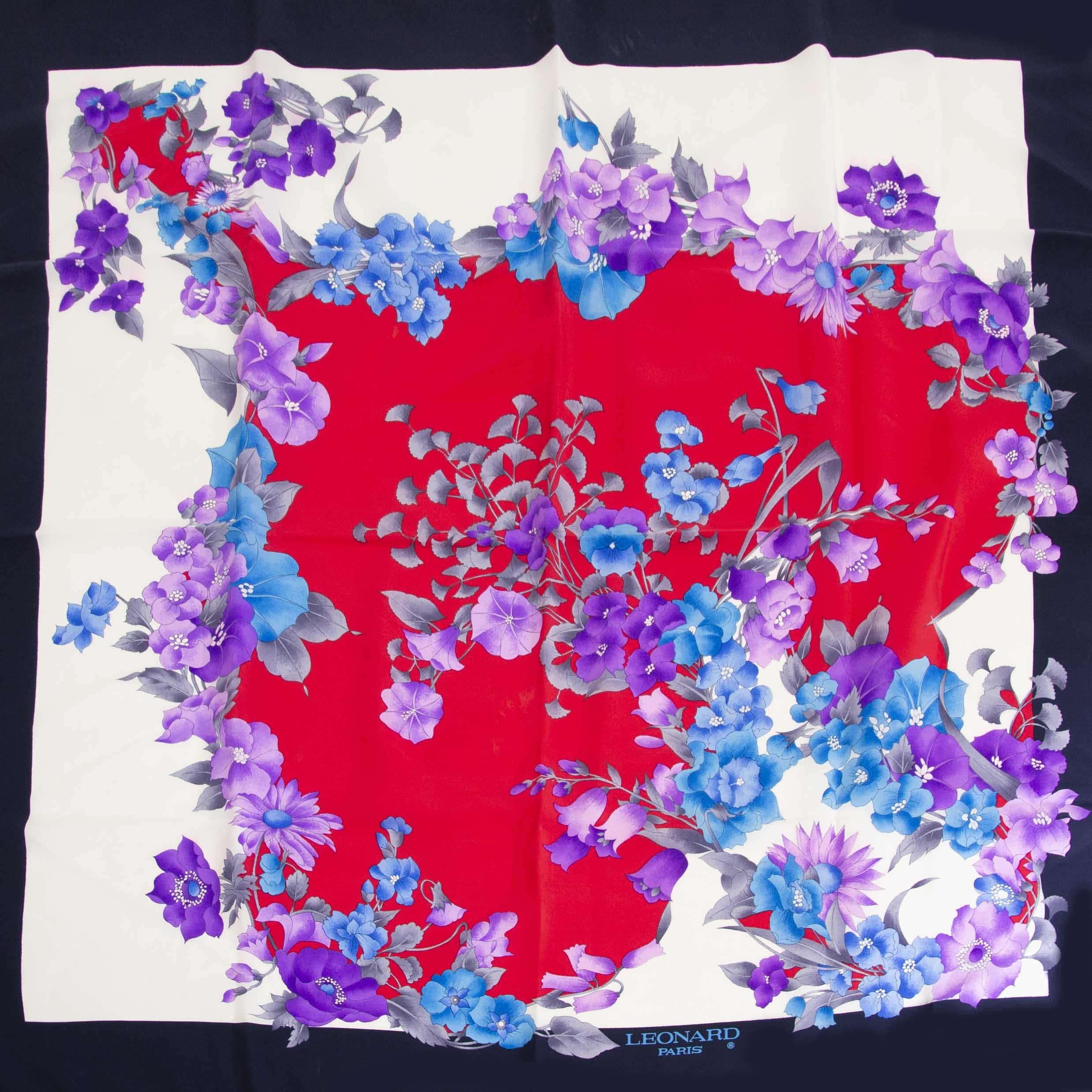 Leonard Paris Carré Flower Scarf