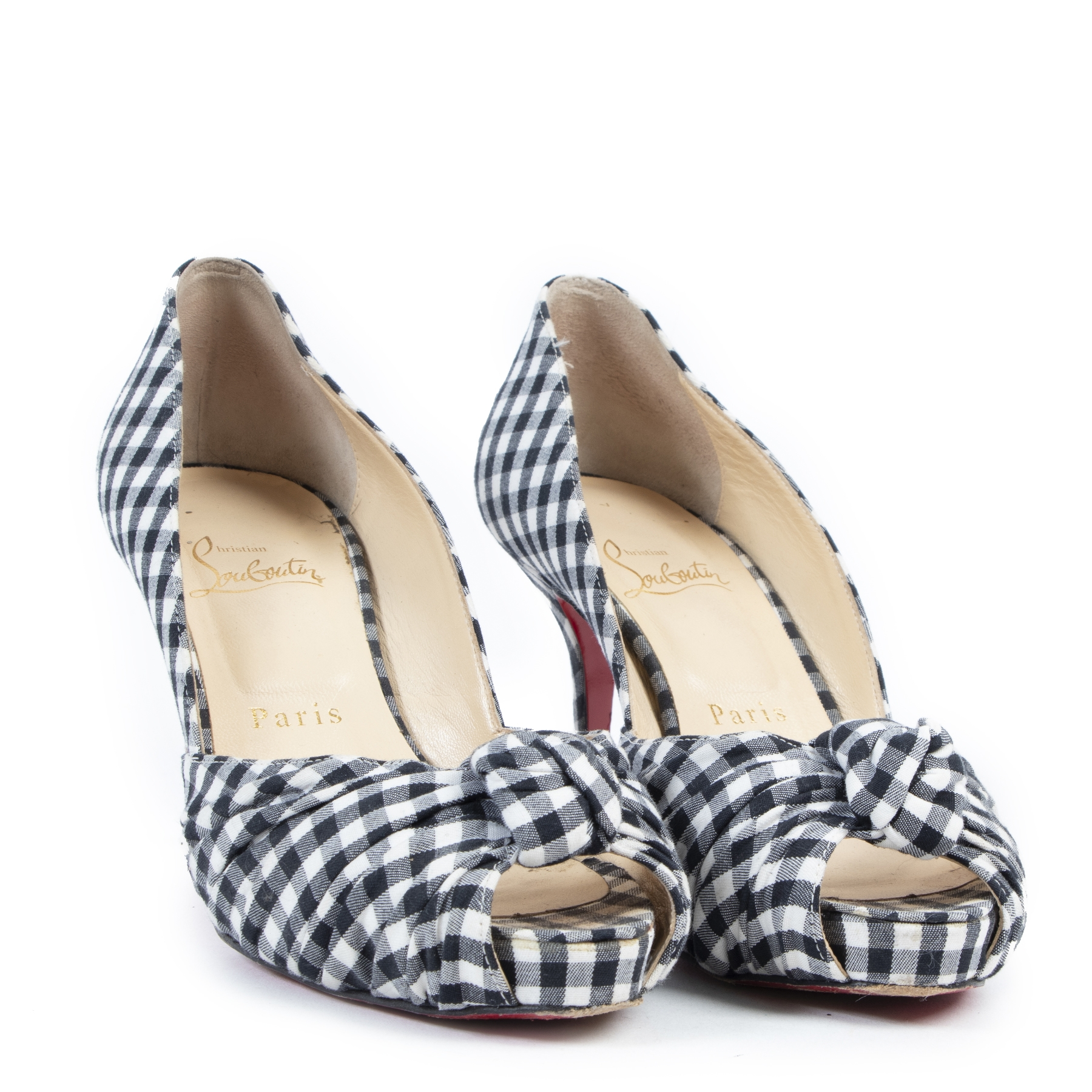 Louboutin Checkered Greissimo 85 Pumps - Size 37,5