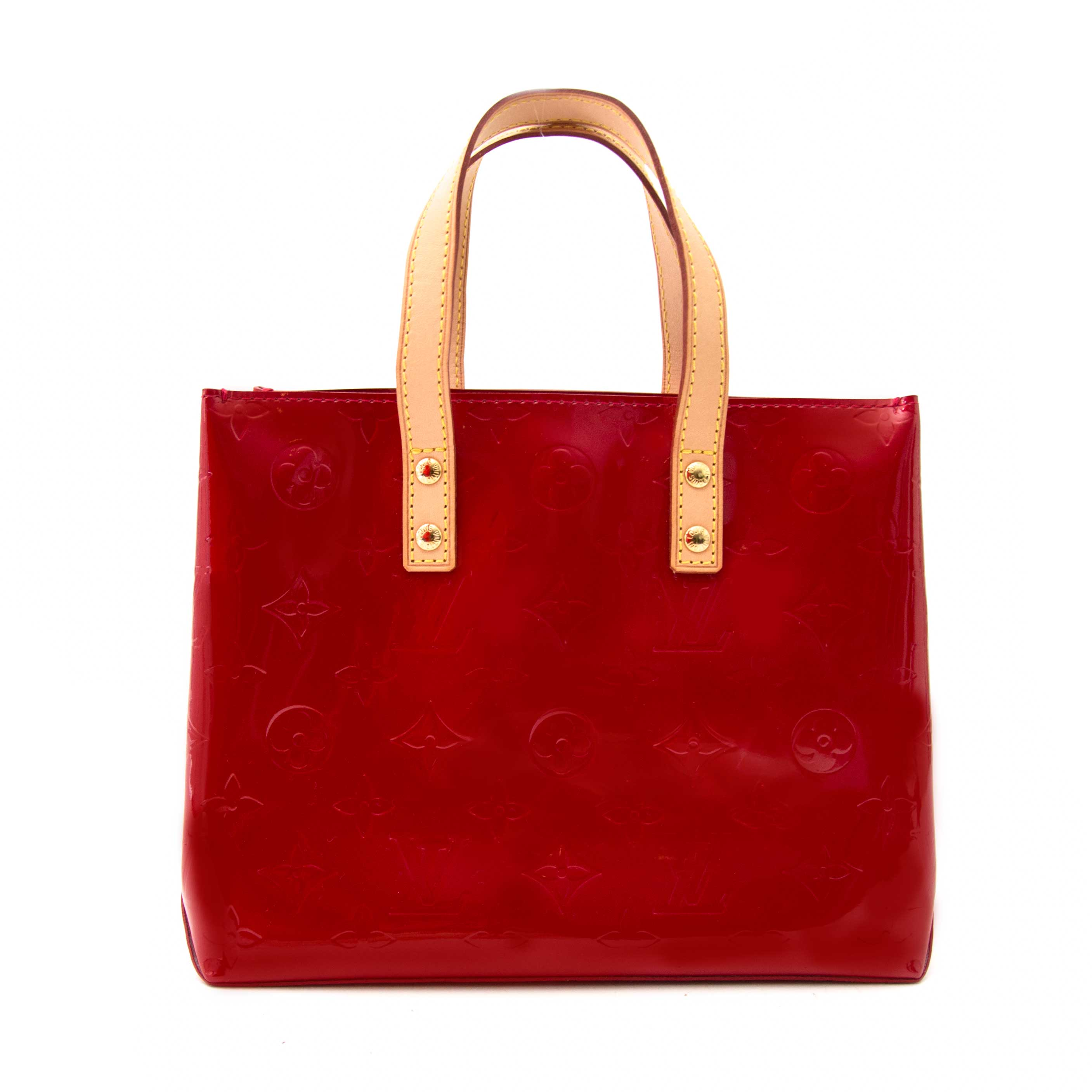 shop online your secondhand Louis Vuitton Mini Reade Red Vernis Leather Tote Bag