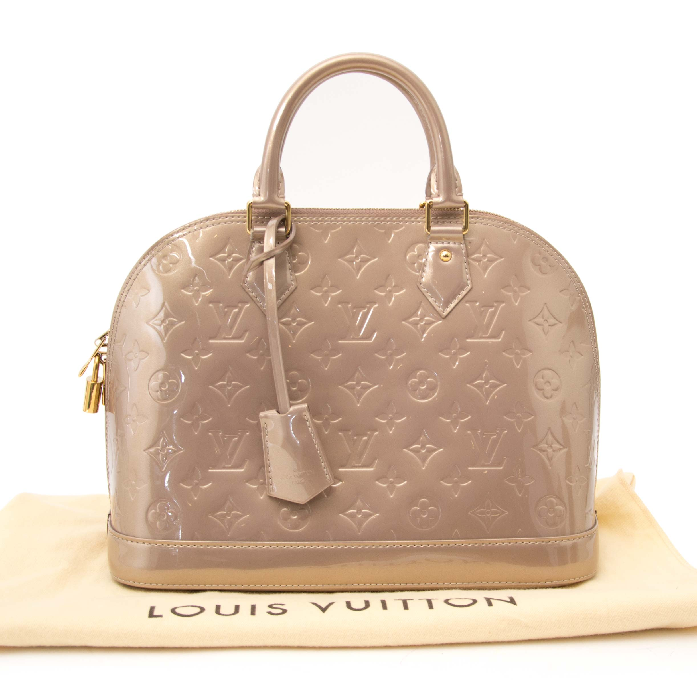 buy safe and secure online at labellov.com for the best price louis vuitton alma vernis taupe monogram almaa