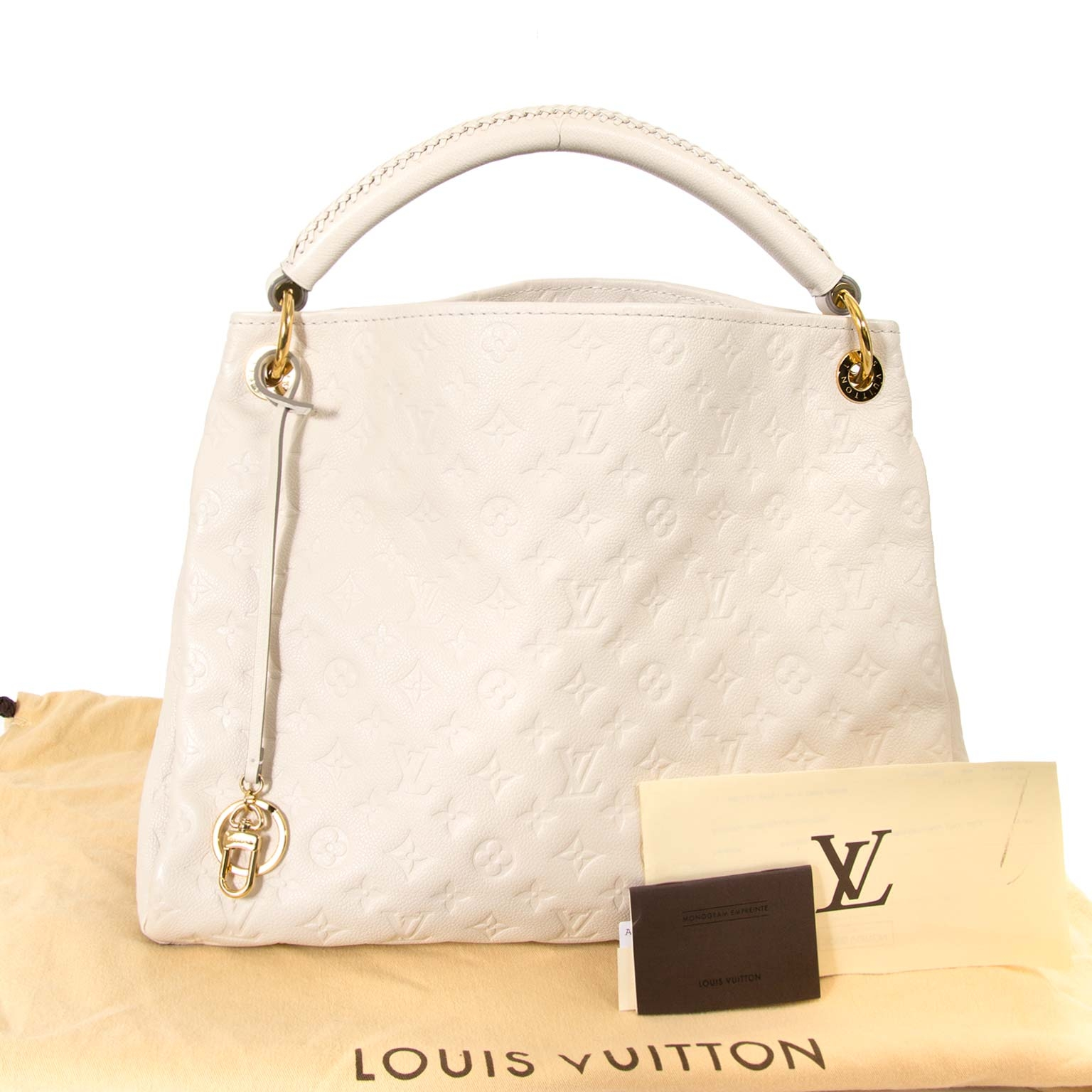 louis vuitton white cream artsy mm bag now for sale at labellov vintage fashion webshop belgium