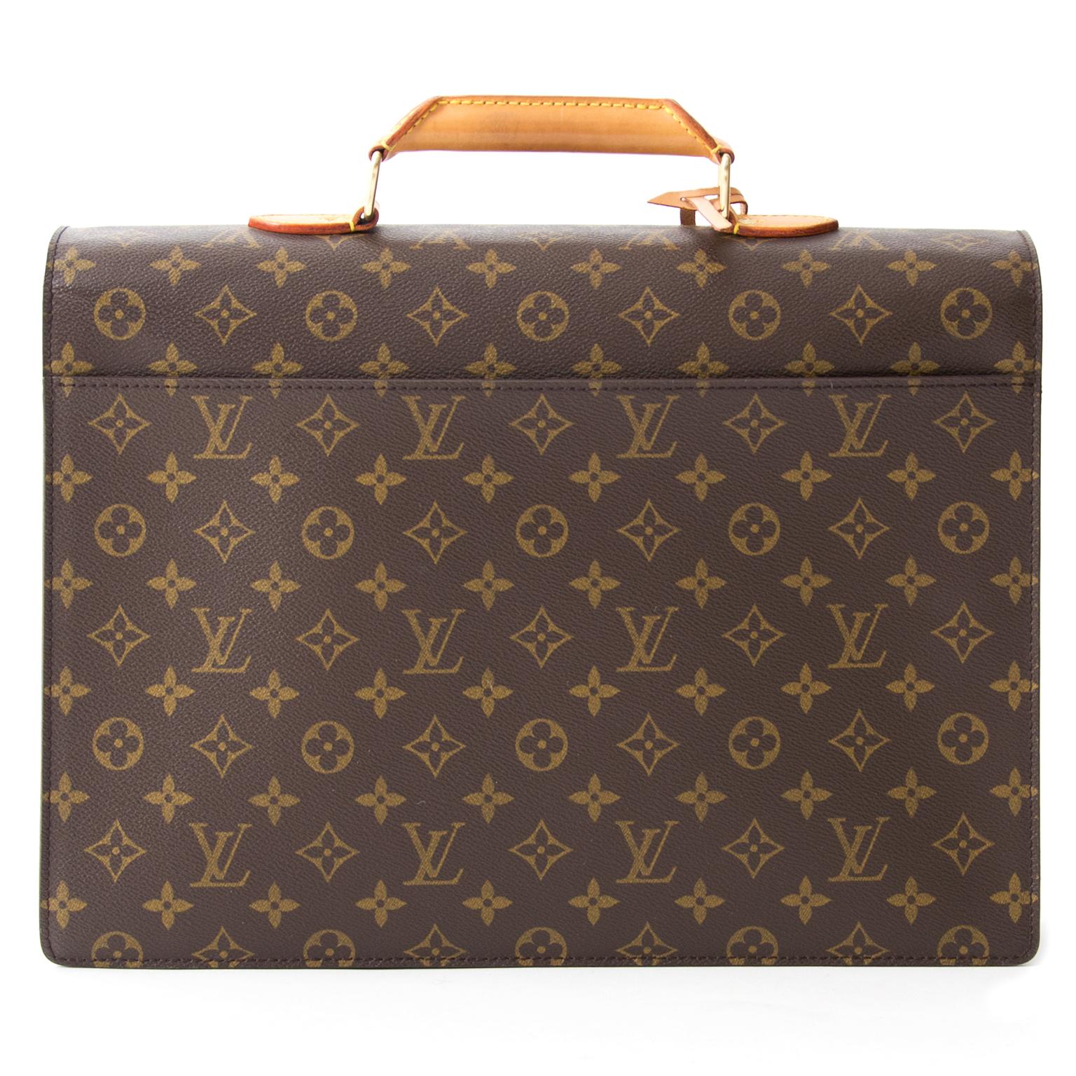 acheter en linge second main sac a main Louis Vuitton Monogram Conseiller Briefcase