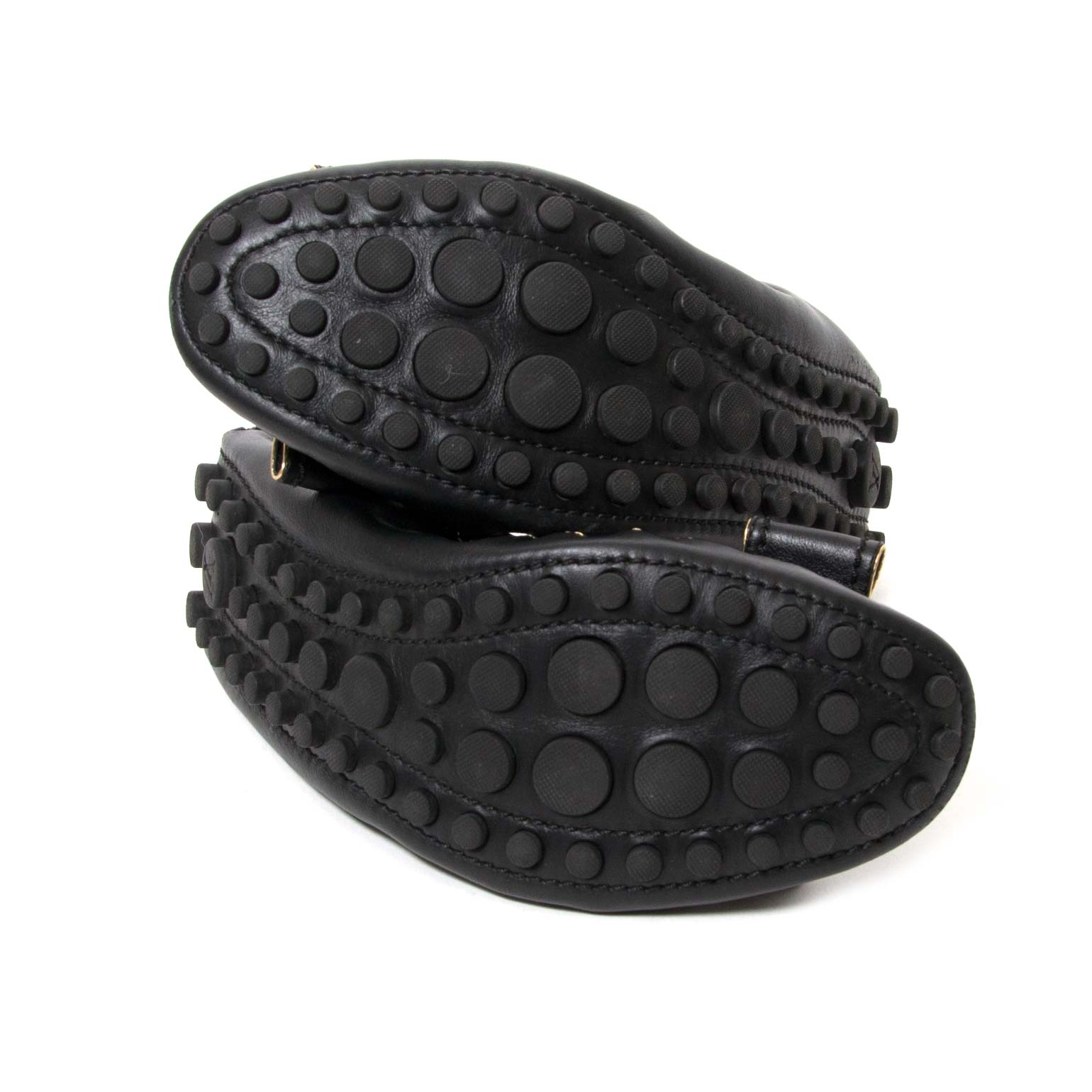 buy Louis Vuitton Black Leather Bow Flats - Size 38,5 at labellov for the best price