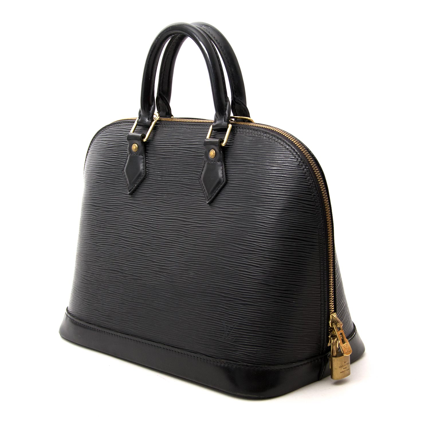 Louis Vuitton Alma Black Epi now online at labellov.com for the best price
