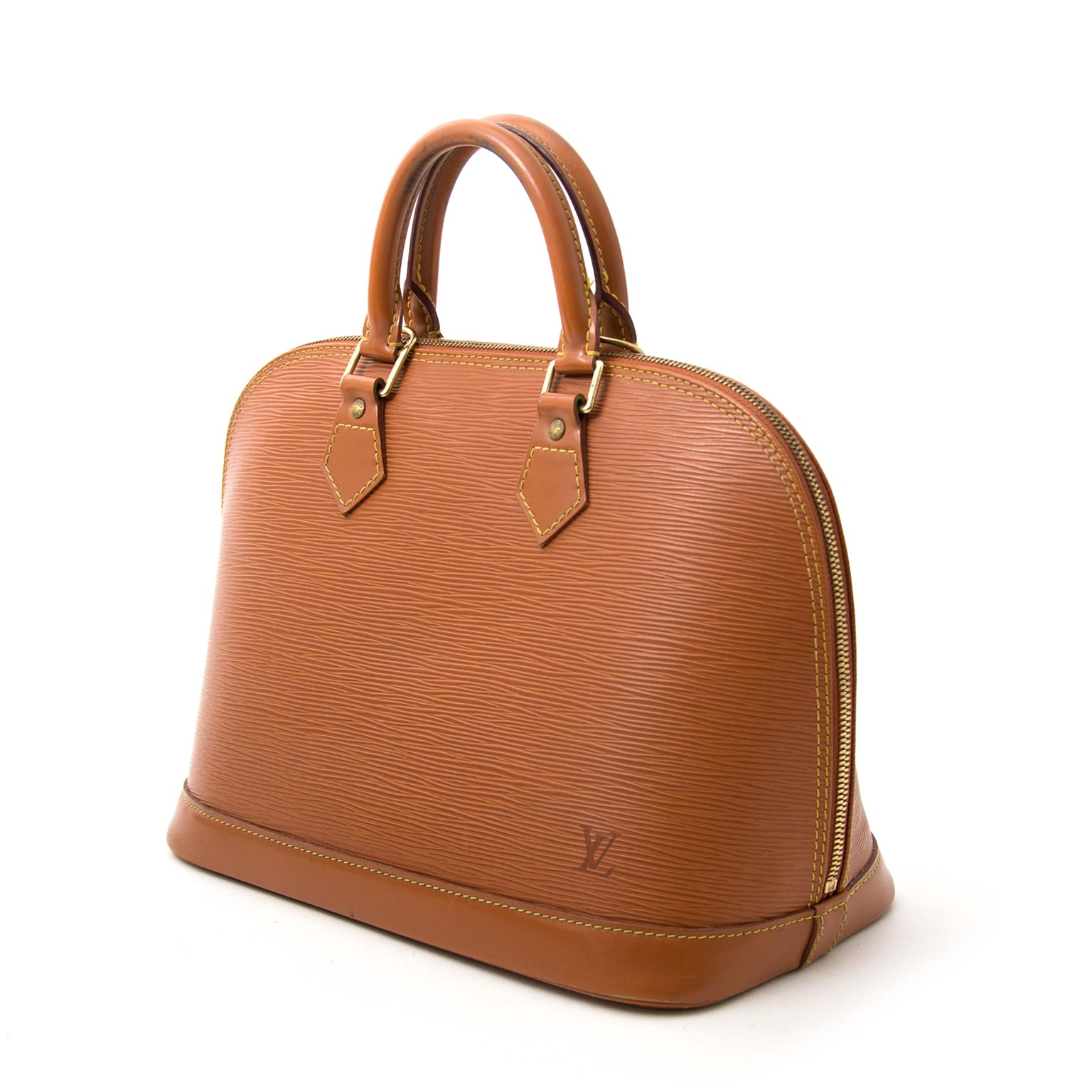 Buy safe and secure online at labellov.com for the best price. Louis Vuitton Alma Brown Gold Epi Leather now online