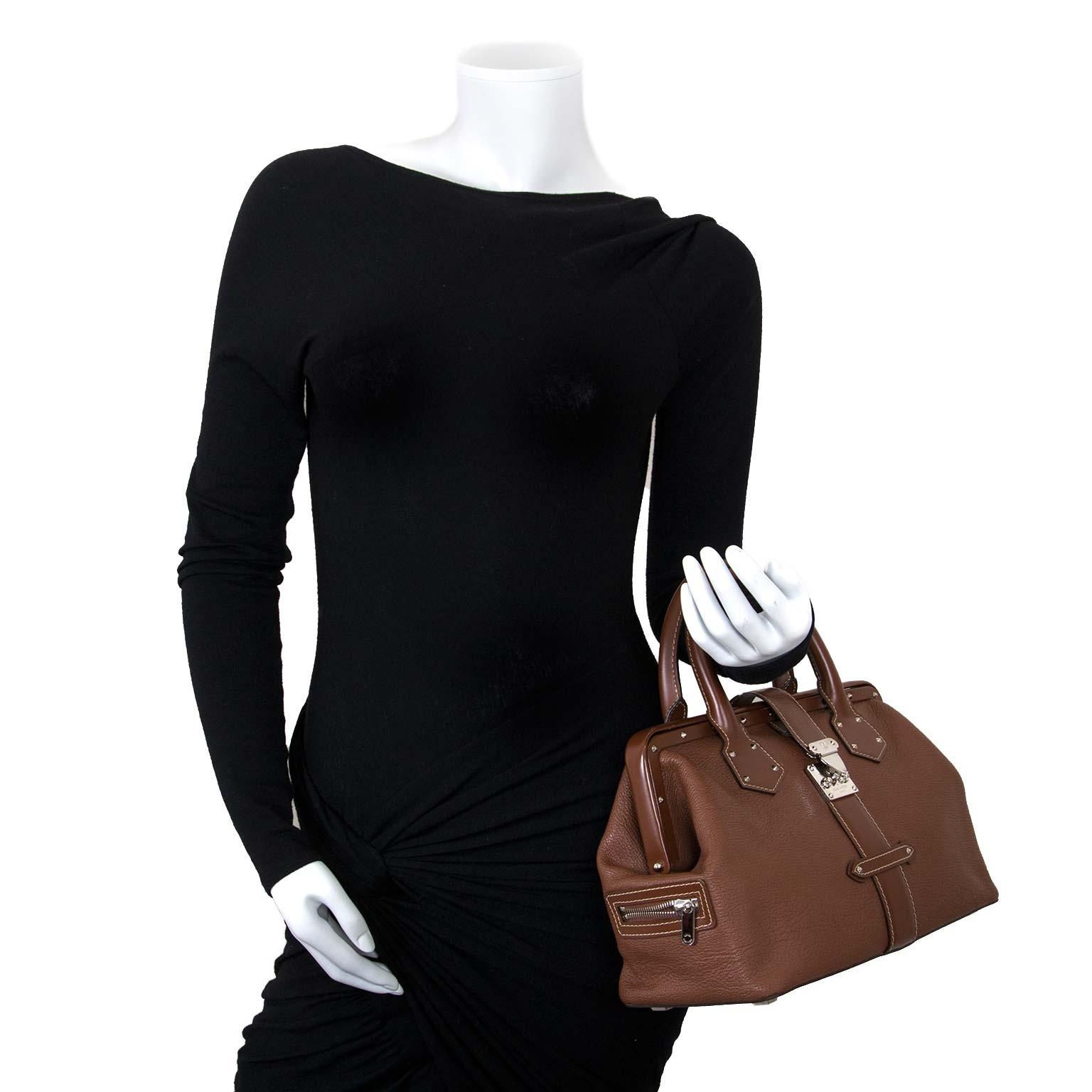 louis vuitton brown suhali l'ingenieux doctor bag now for sale at labellov vintage fashion webshop belgium
