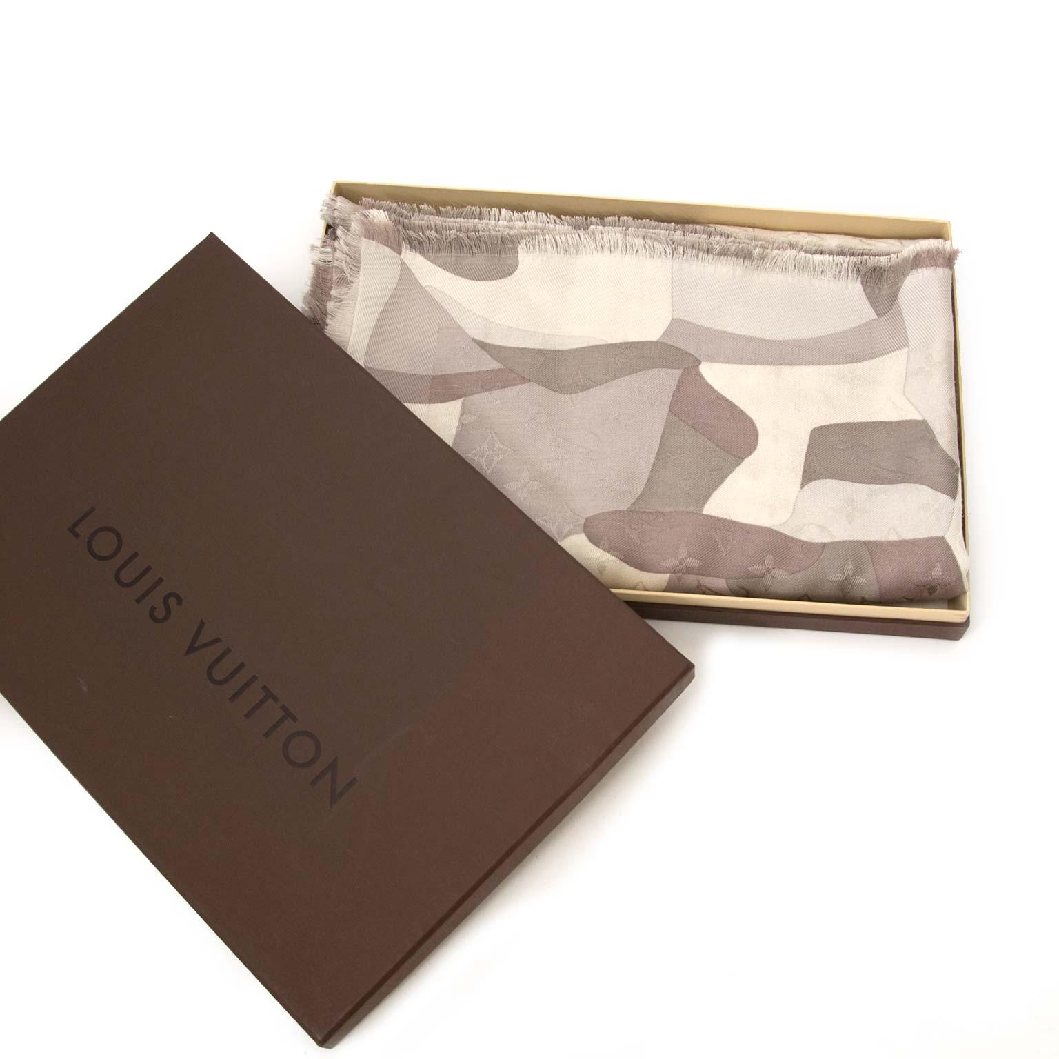 Louis Vuitton Silver Silk & Wool Scarf