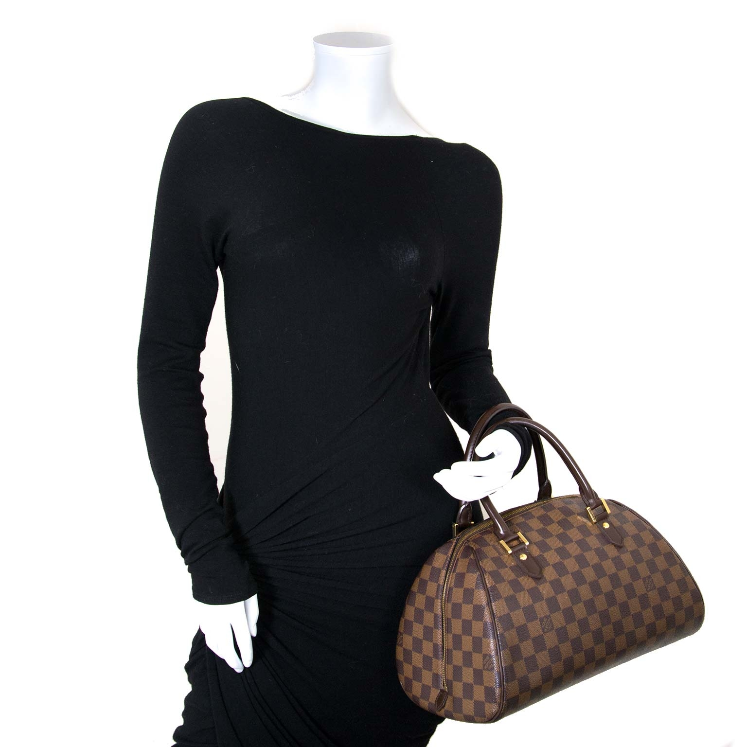 Louis Vuitton Damier Ebene Bowling Bag now for sale at labellov vintage fashion webshop belgium