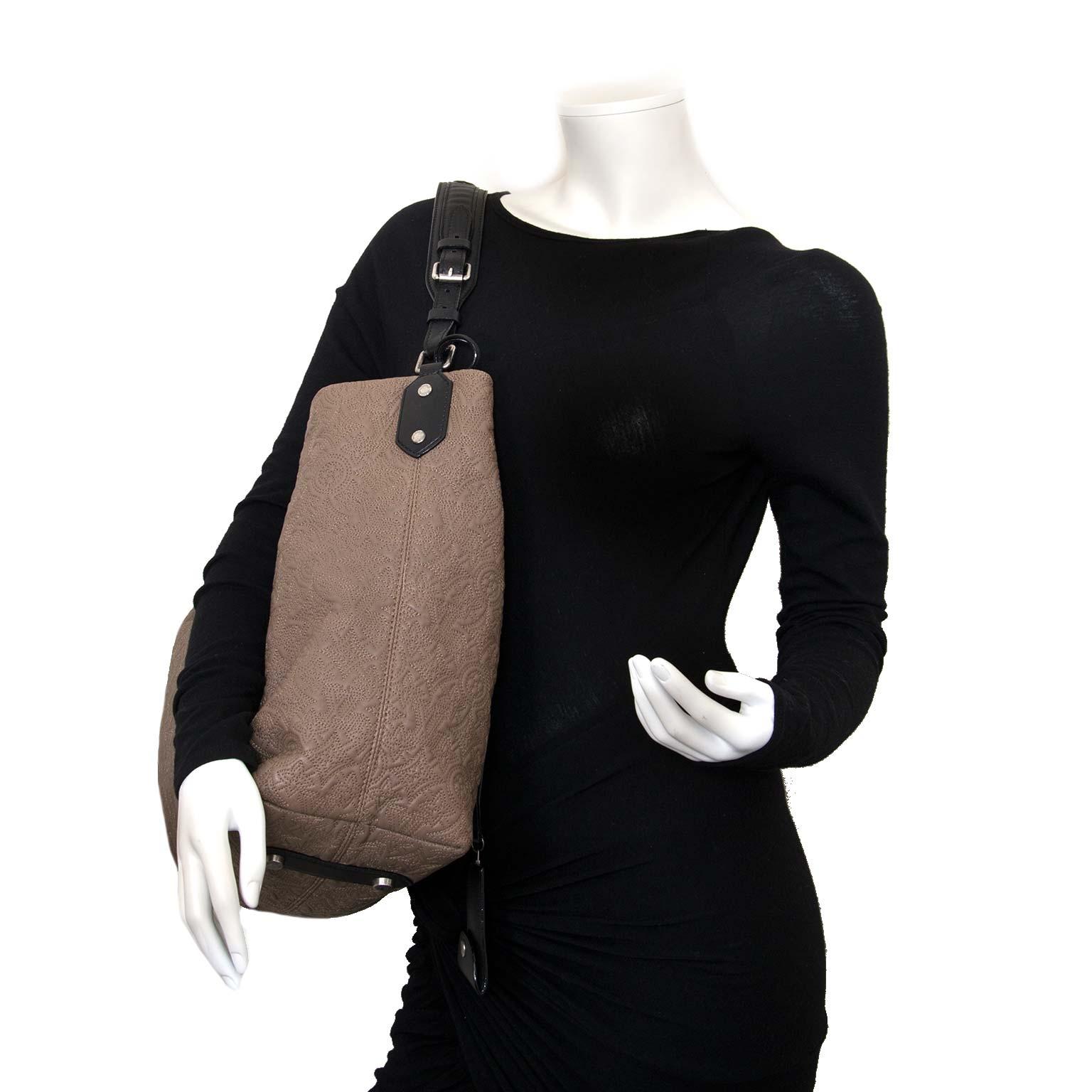 Louis Vuitton Monogram Lambskin Antheia Hobo PM Fumee now for sale at labellov vintage fashion webshop belgium