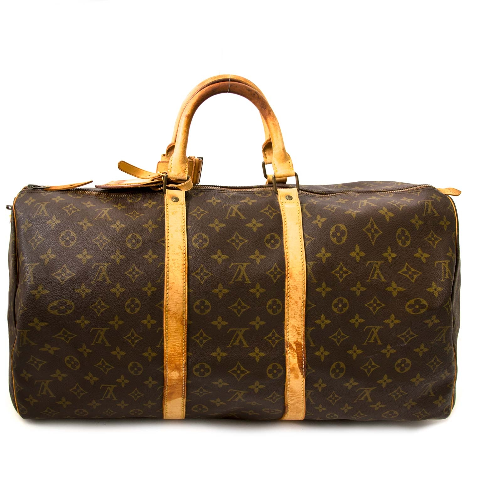 Buy and sell authentic designer Louis Vuitton Vintage Keepall 55 for the best price