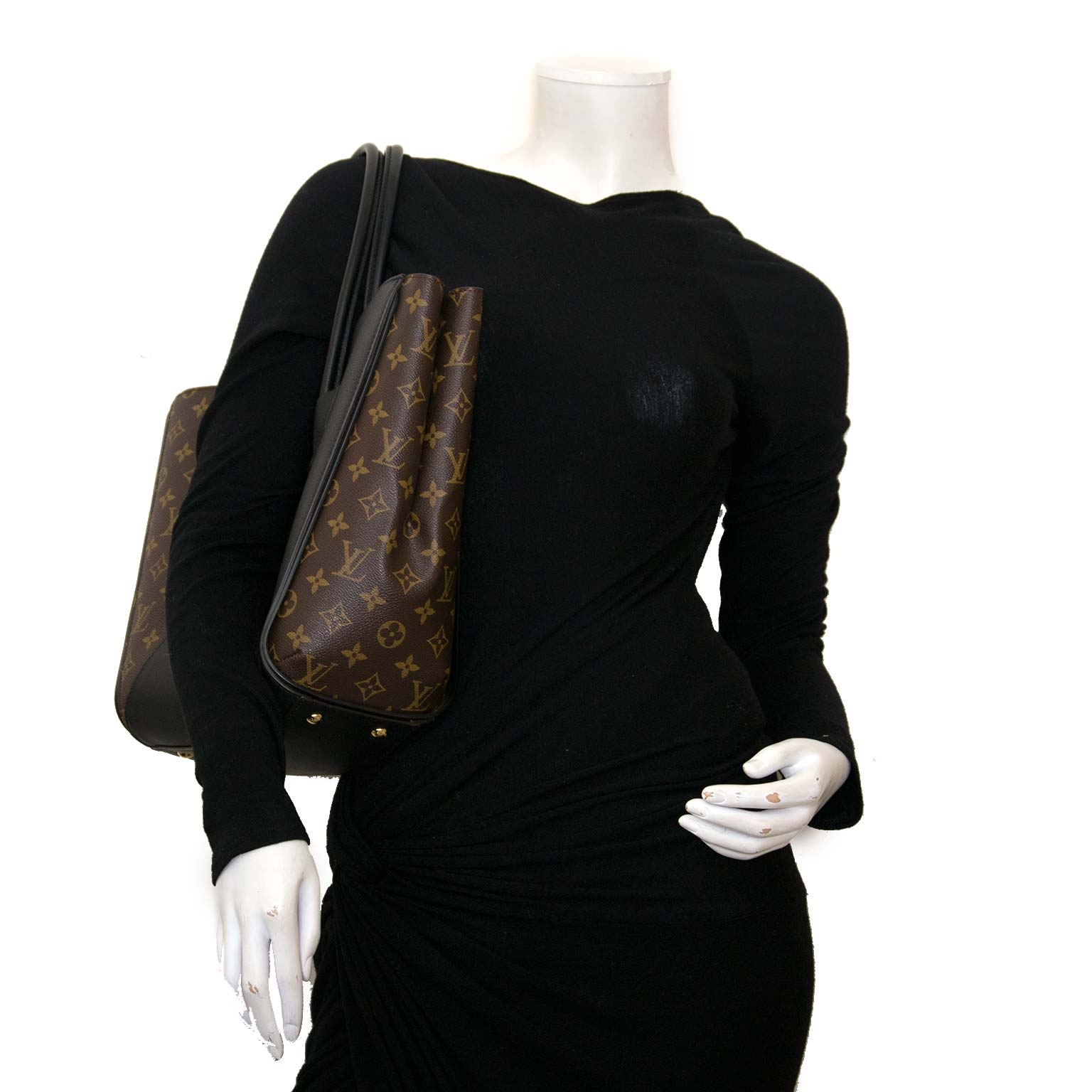 louis vuitton kimono monogram brown & black tote now for sale at labellov vintage fashion webshop belgium