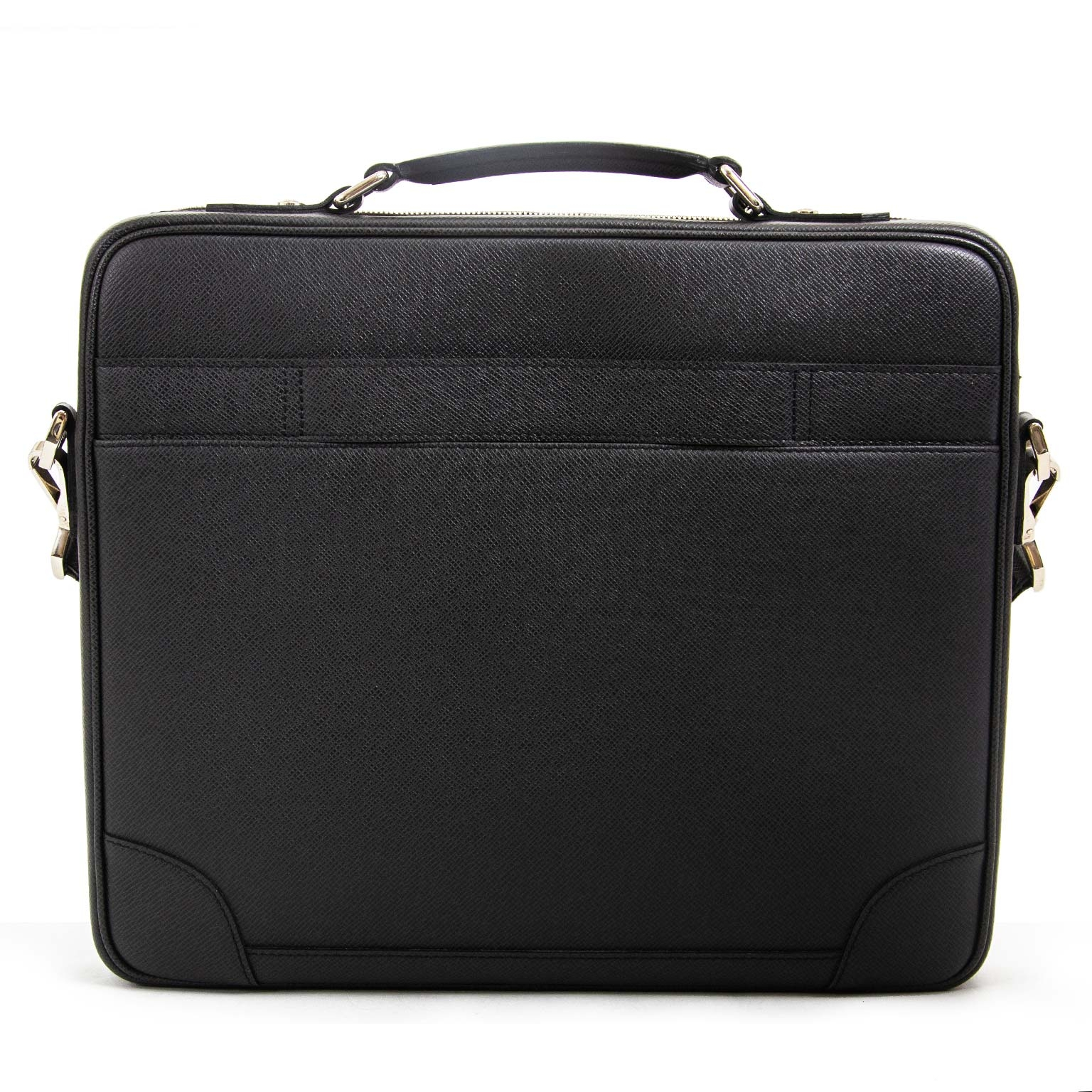 louis vuitton black taiga leather odessa computer case bag now for sale at labellov vintage fashion webshop belgium