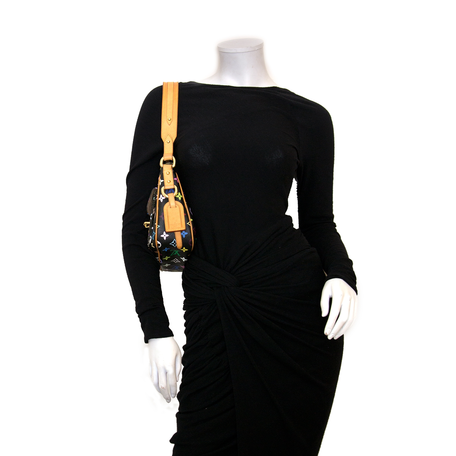 Louis Vuitton Black Monogram Multicolored Lodge Bag for sale online at Labellov