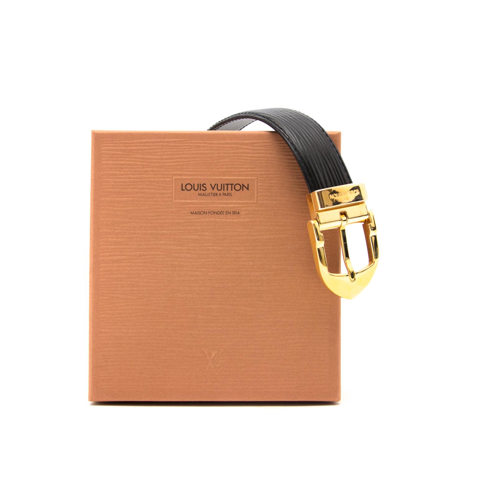 acheter en lgne pour le meilleur prix Louis Vuitton Black Alma Belt