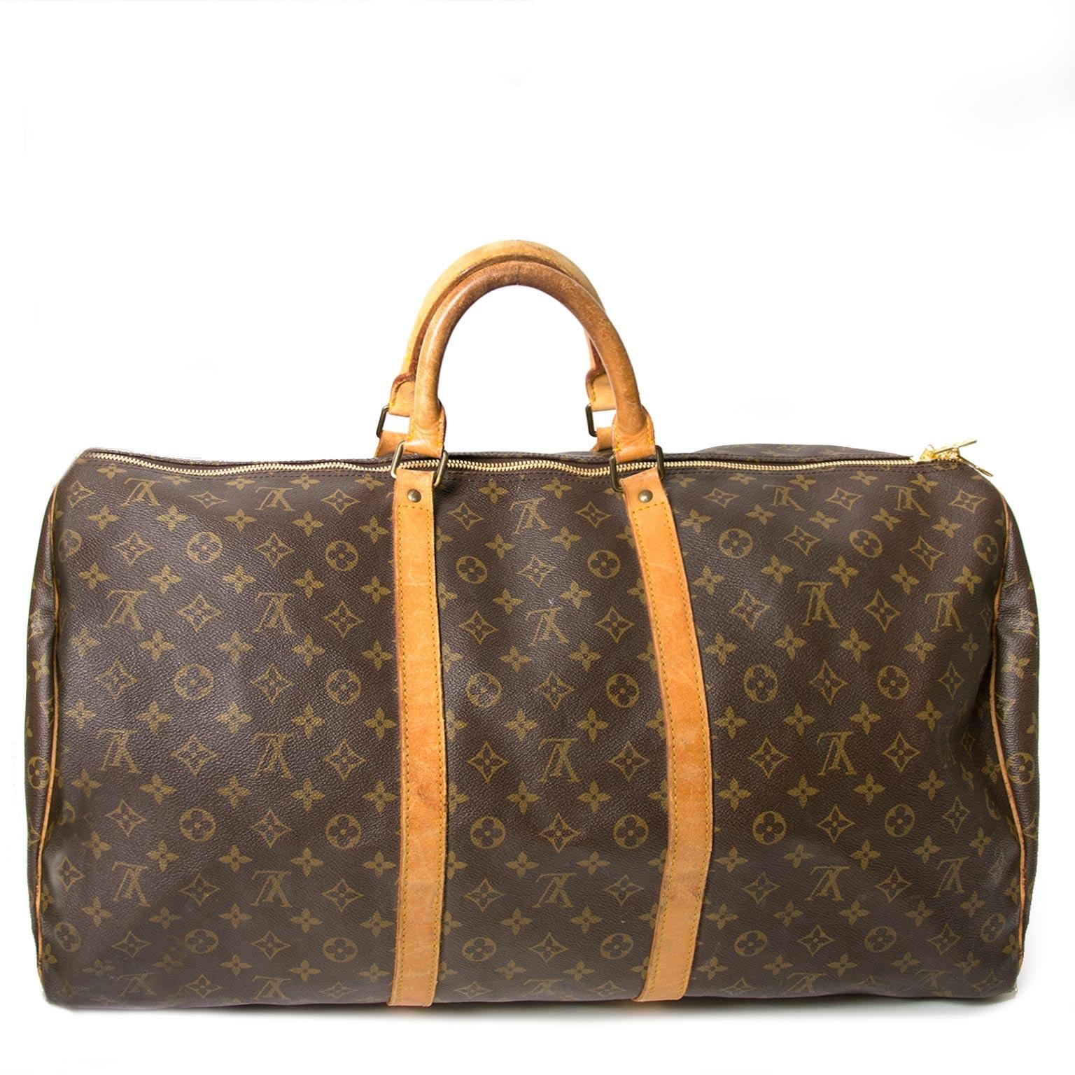 ... louis vuitton monogram keepall 60 now for sale at labellov vintage  fashion webshop belgium 5259bb7d67236