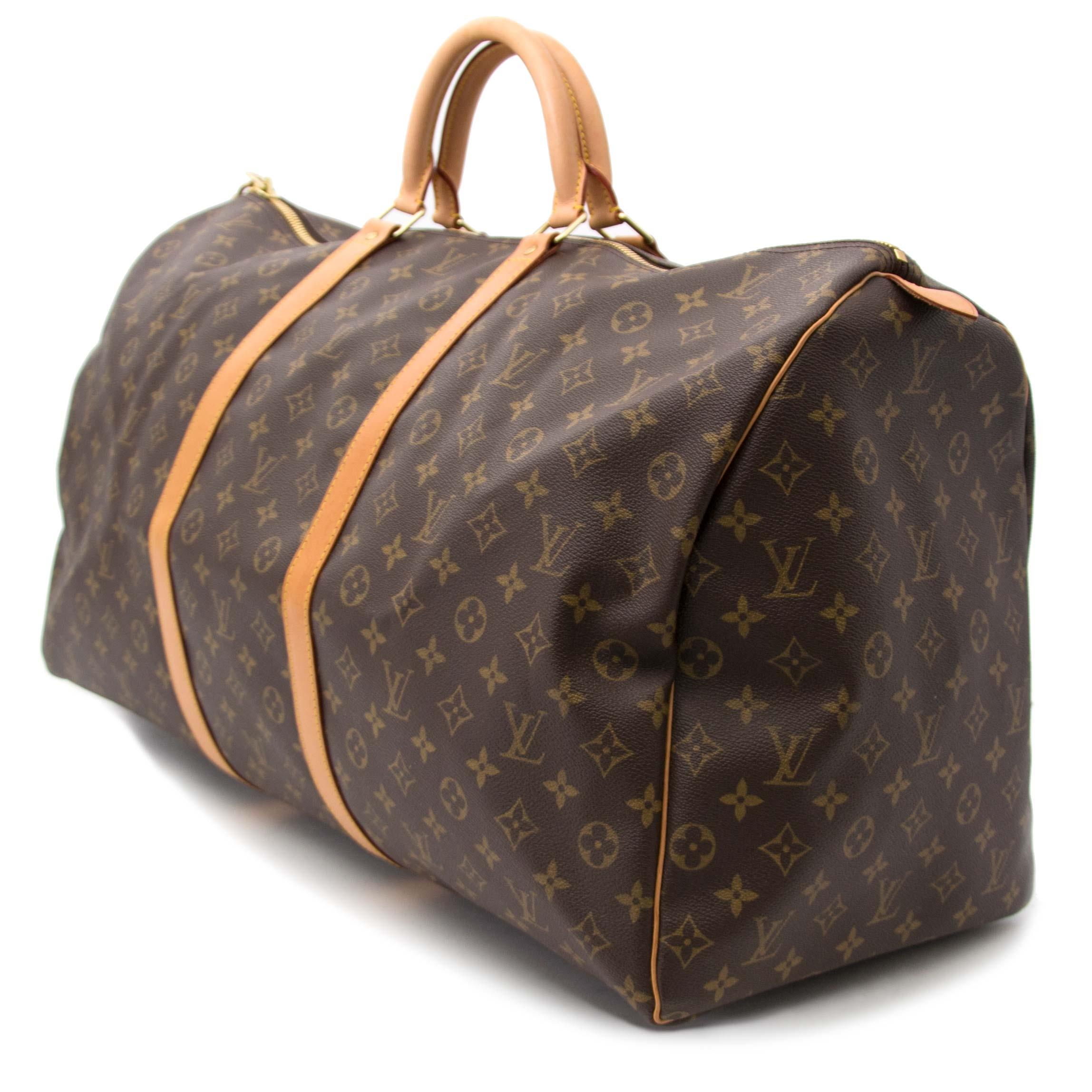 Louis Vuitton Keepall 60 Monogram Travel Bag koop veilig online tegen de beste prijs