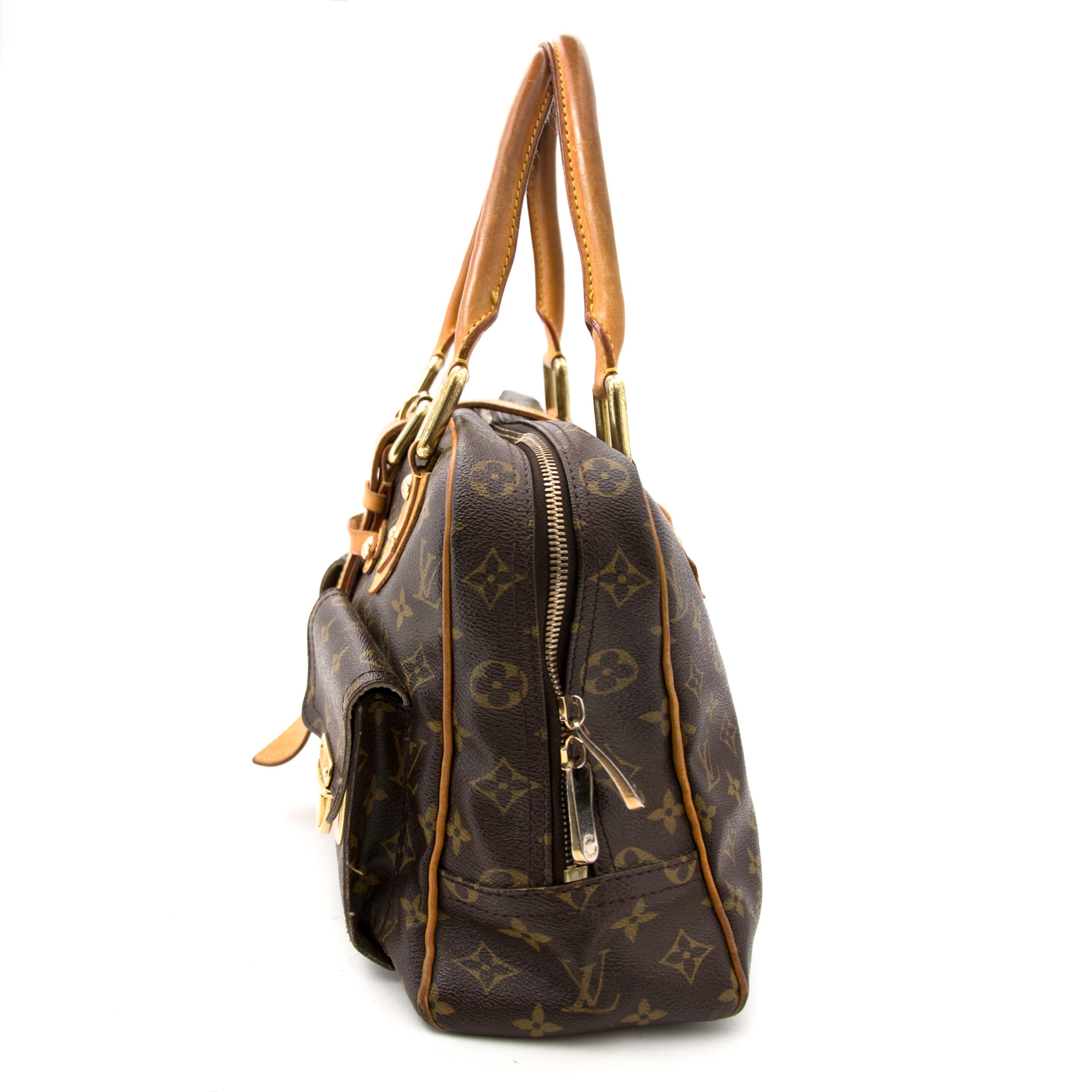 7191b16a073 ... koop veilig online aan de beste prijs Louis Vuitton Monogram Canvas Manhattan  GM Bag