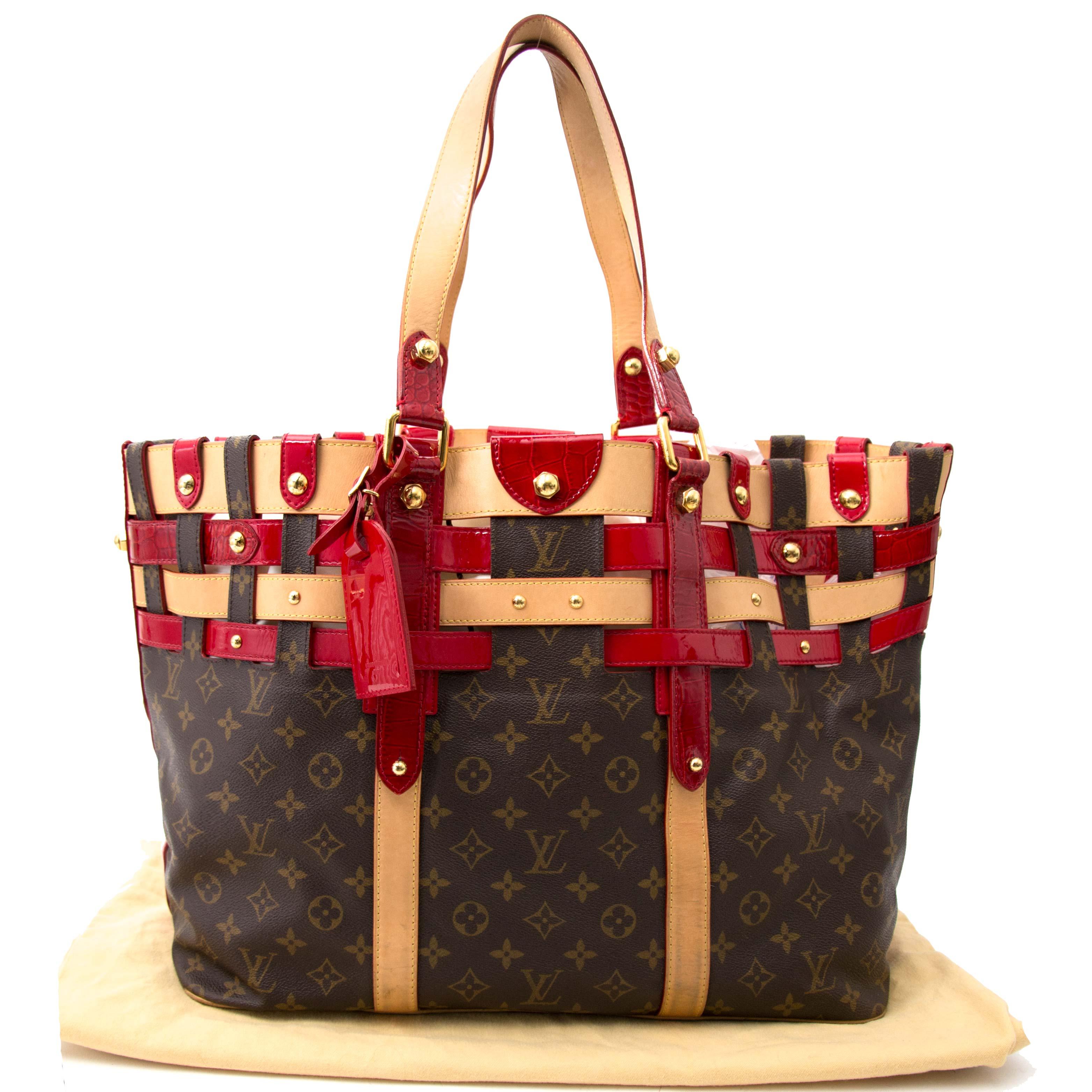 Louis Vuitton Monogram Rubis Salina GM Tote Bag for sale
