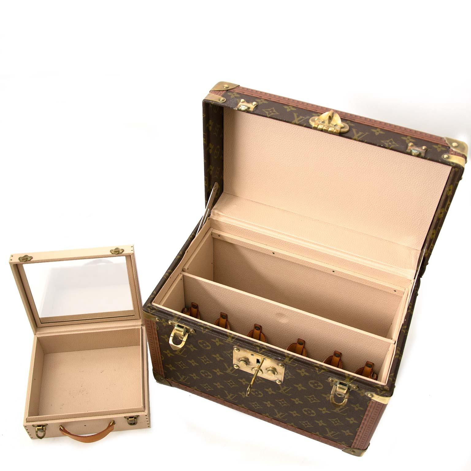 louis vuitton monogram reis trunk case te koop bij labellov vintage mode webshop belgië