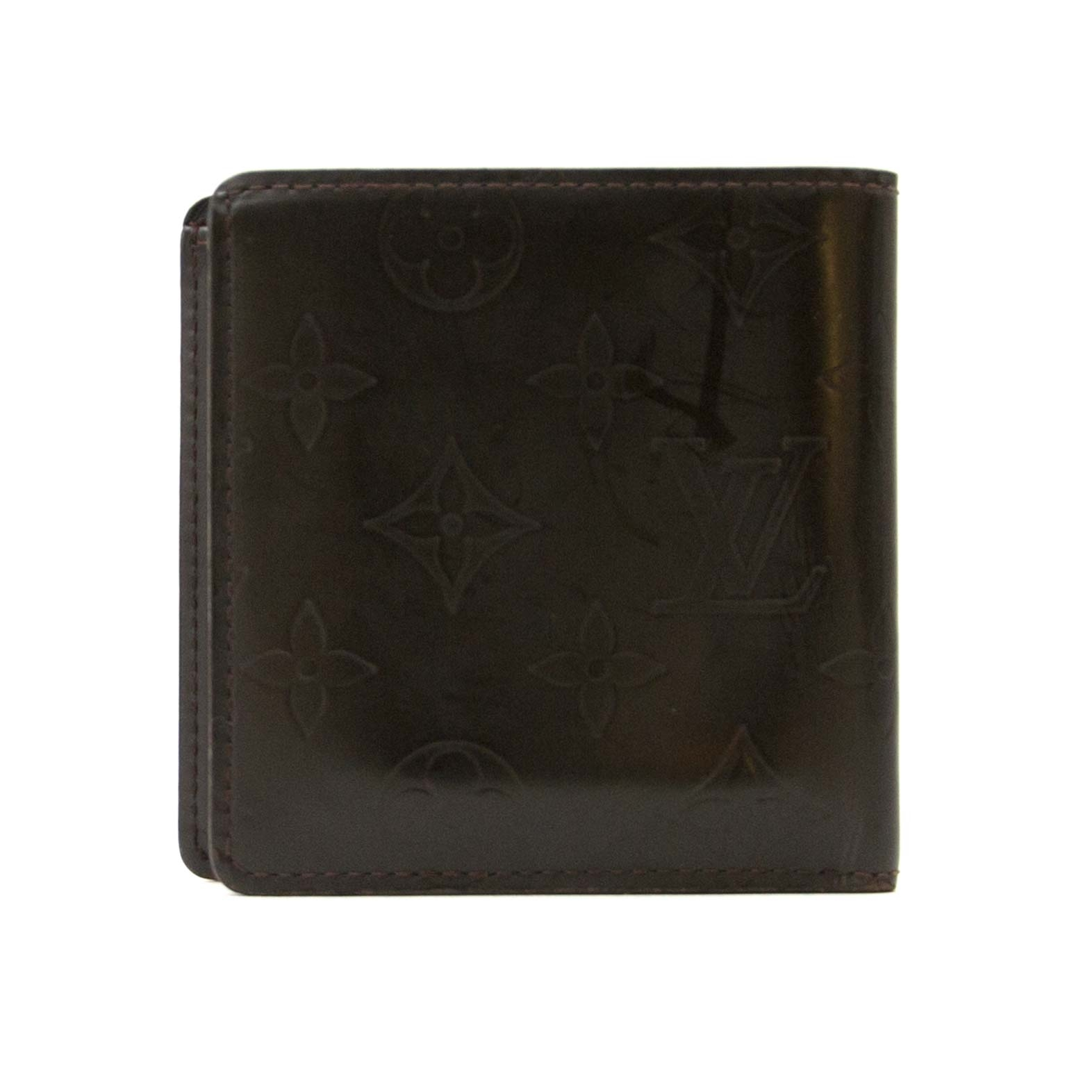 achetez Louis Vuitton Brown Monogram Leather Wallet sur labellov