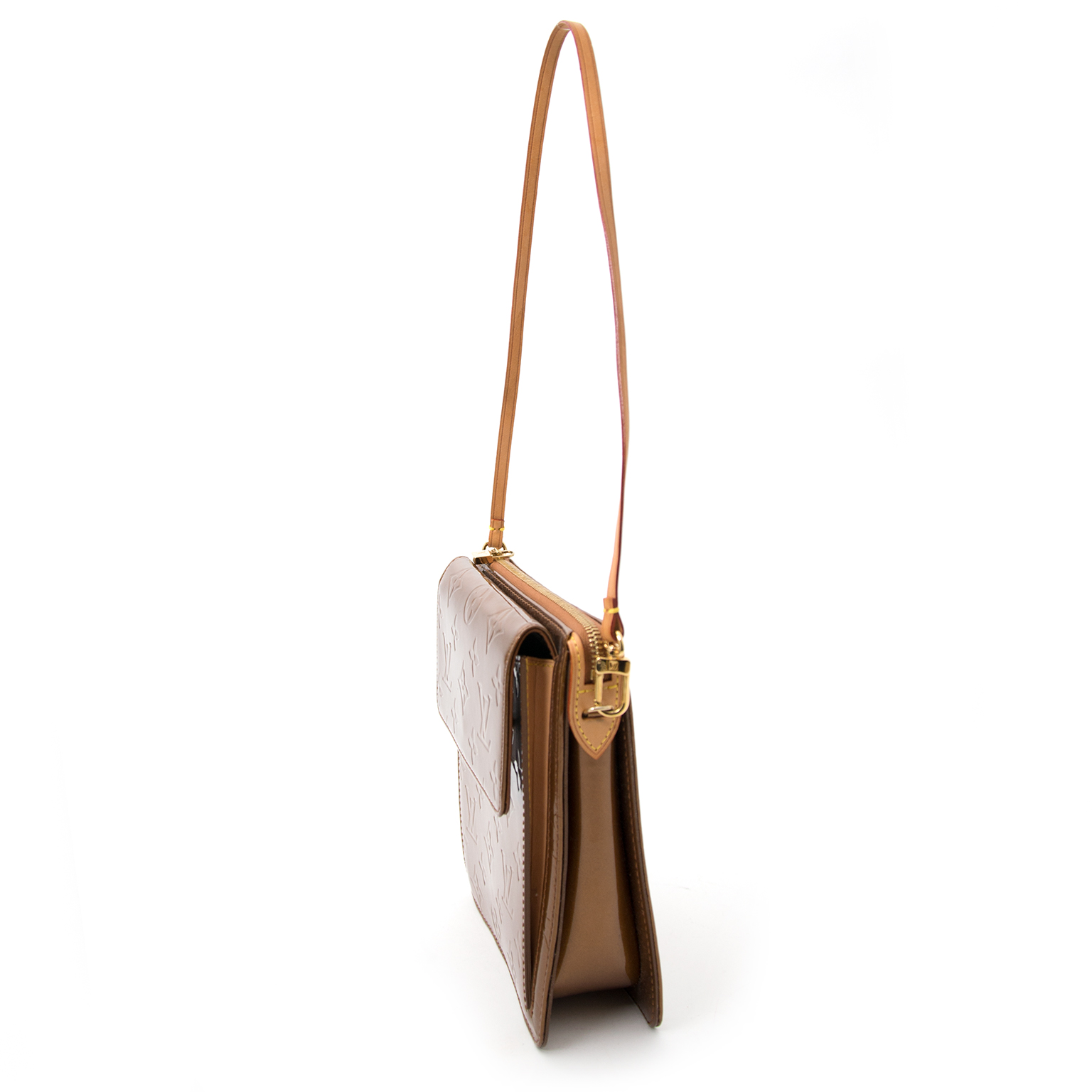Louis Vuitton Bronze Vernis Mott Monogram Bag now online at labellov.com