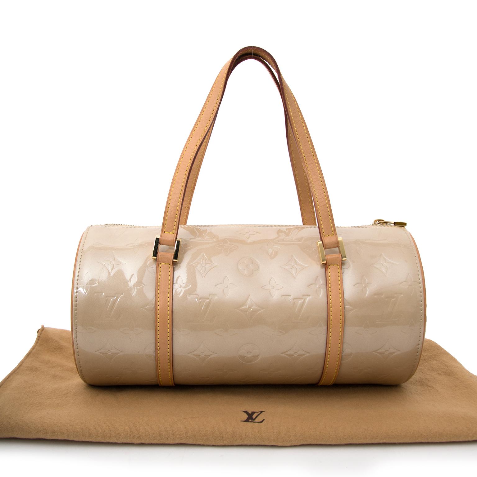 3d6b87d3988 ... shop safe oline Louis Vuitton Papillon Vernis Beige 30 at the best price