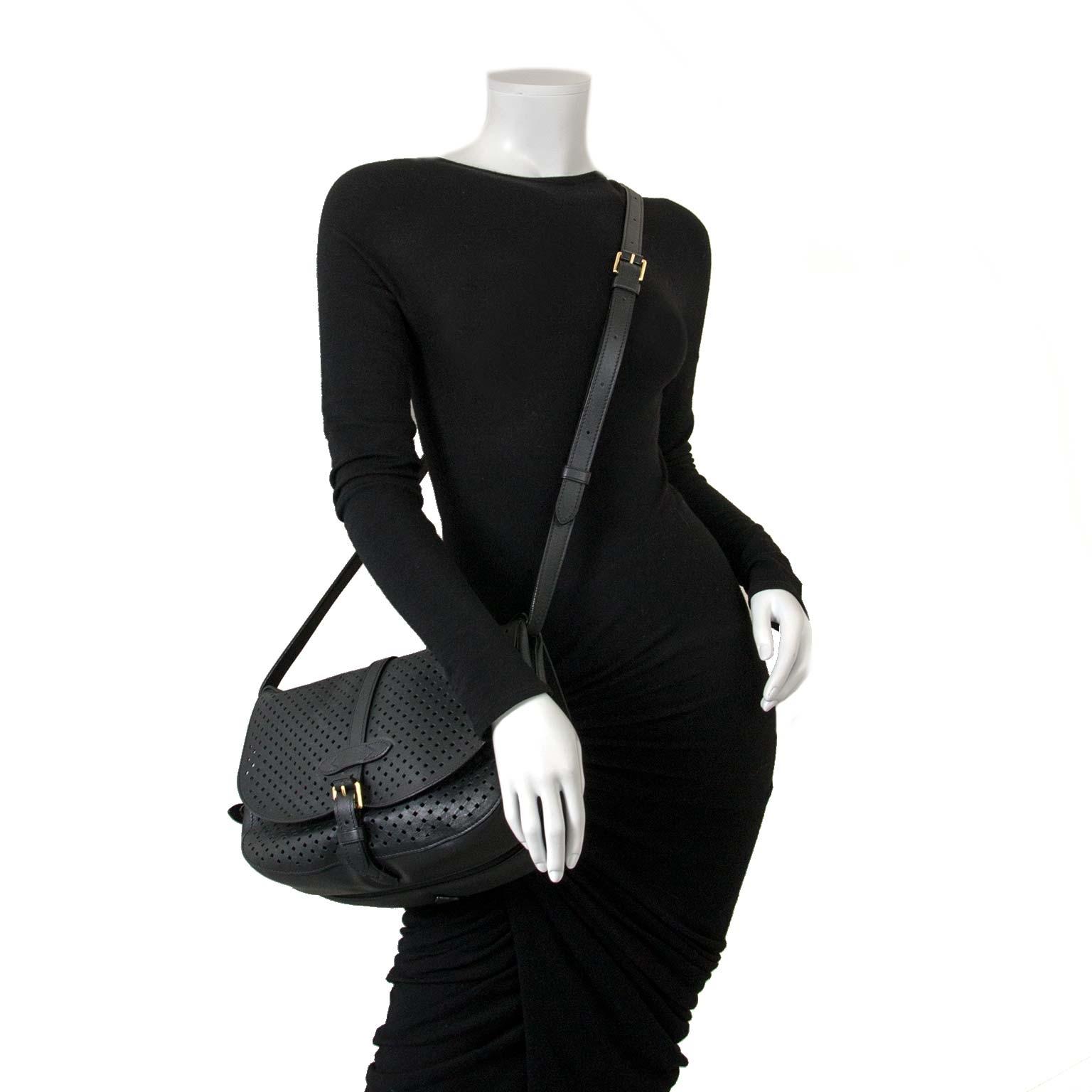 Louis Vuitton Sofia Coppola Flore Saumur Black bag now for sale at labellov vintage fashion webshop belgium