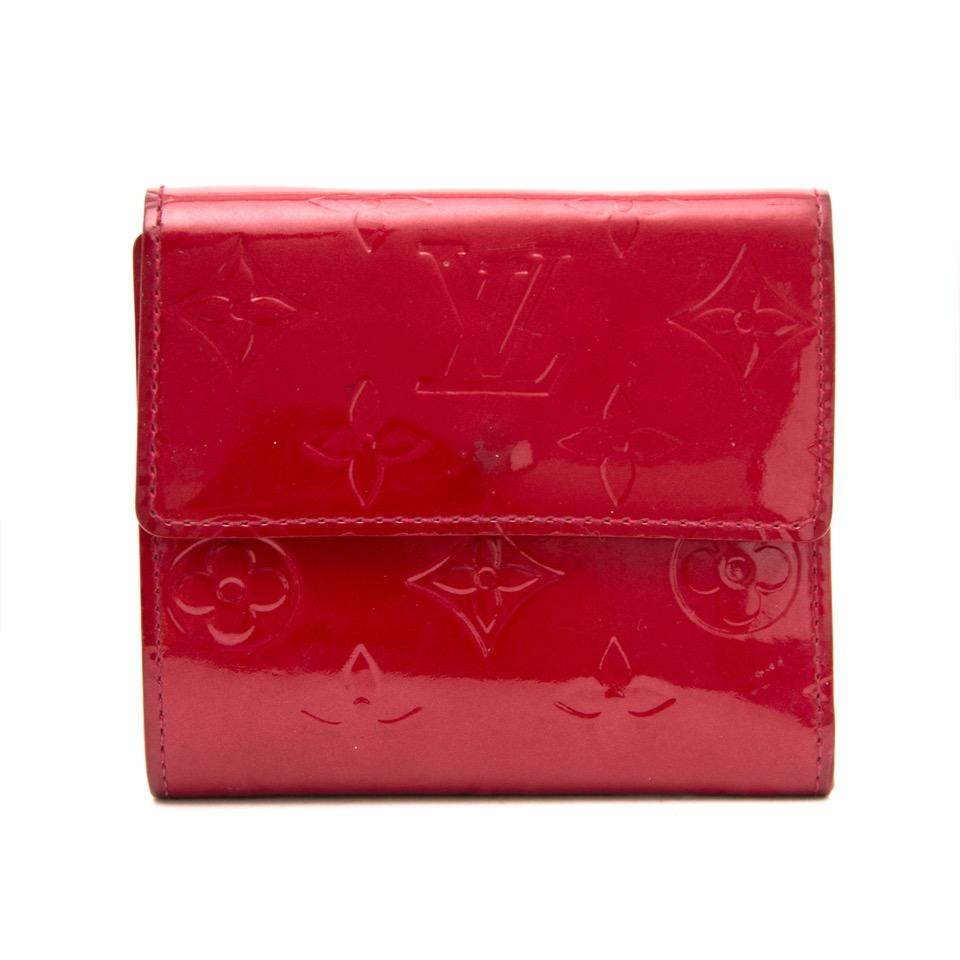 Louis Vuitton Red Vernis Elise Wallet online webshop luxury