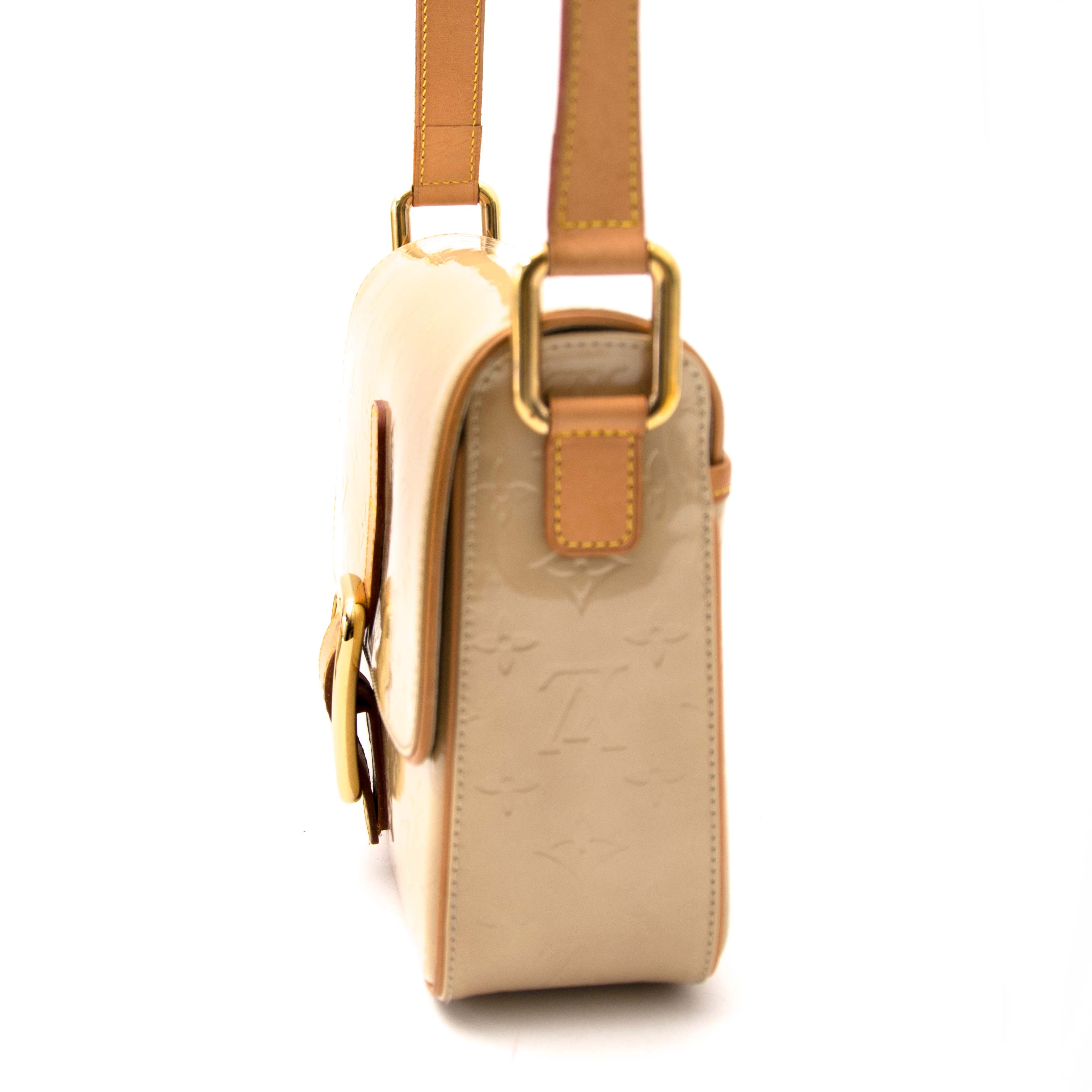 Louis Vuitton Christie Beige Vernis Cross-Body Bag buy and sell your authentic bags for the best price