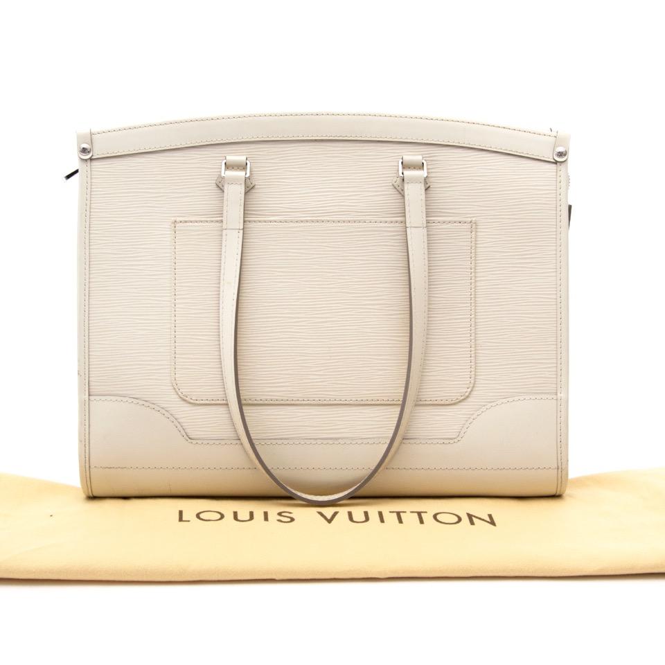 Acheter secure en ligne de sac à mains en cuir blanc de Louis Vuitton