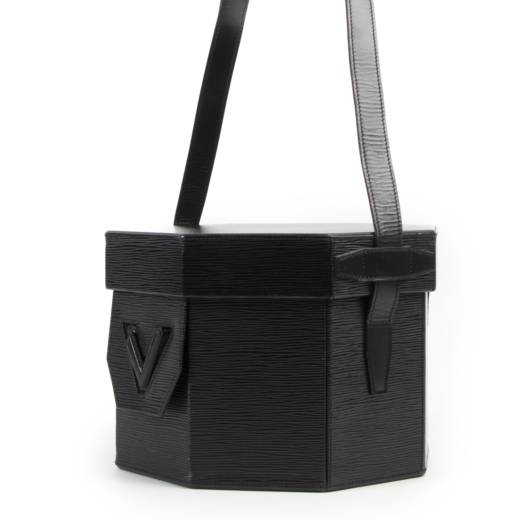 Louis Vuitton Black Epi Leather Octagon Bag