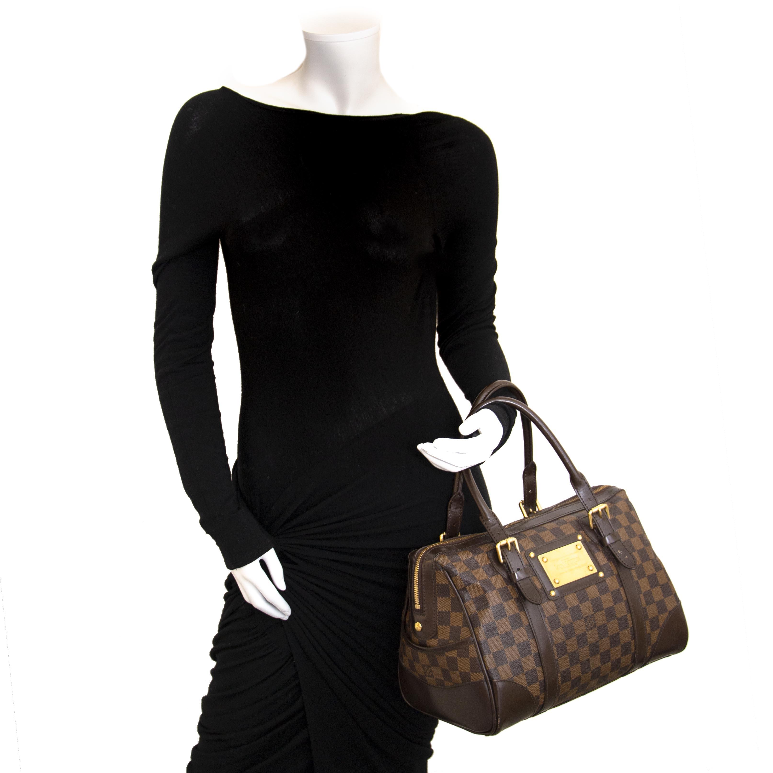 Louis Vuitton Damier Ebene Canvas Brown Berkeley Bag  kopen en verkopen aan de beste prijs