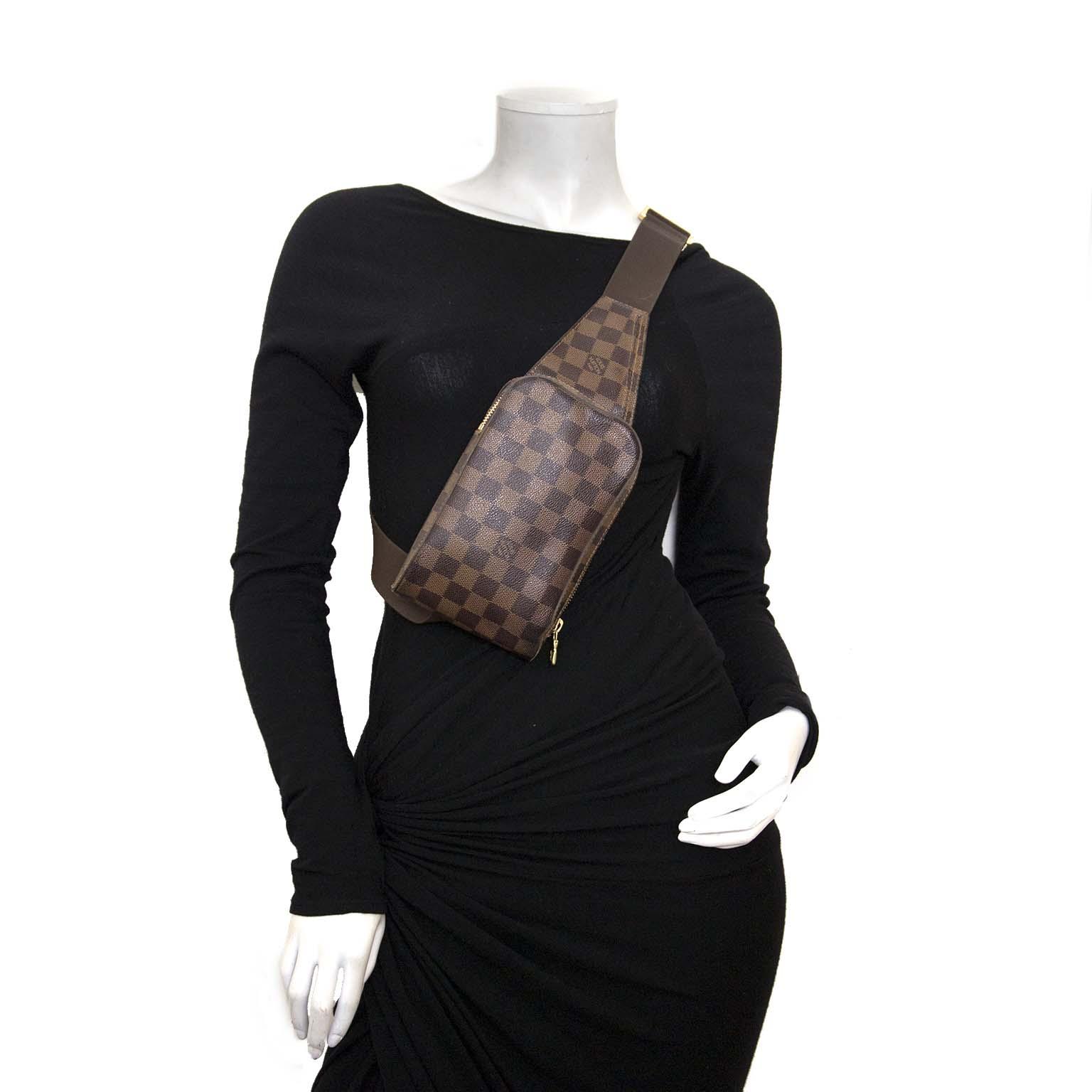 louis vuitton damier ebene 'geronimos' tas nu te koop bij labellov vintage mode webshop belgië