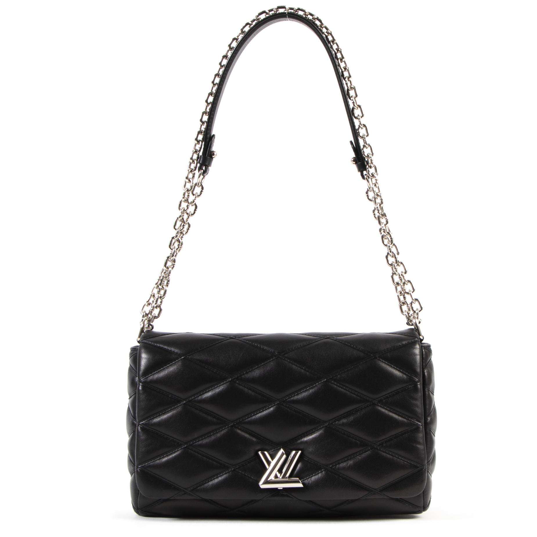 Louis Vuitton GO-14 Malletage Lambskin Leather MM Shoulder Bag