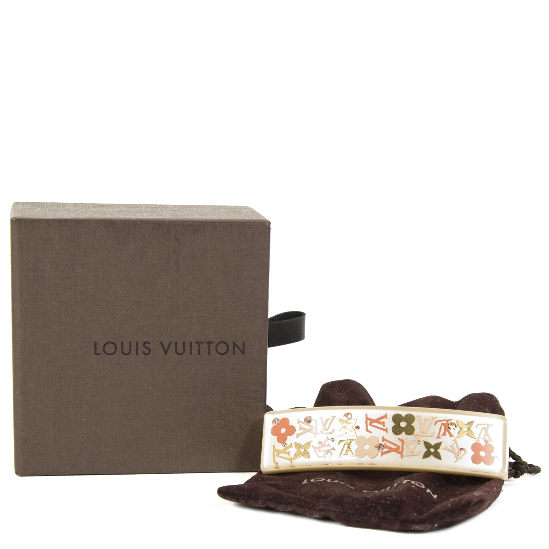 Louis Vuitton Beige Monogram Hairclip