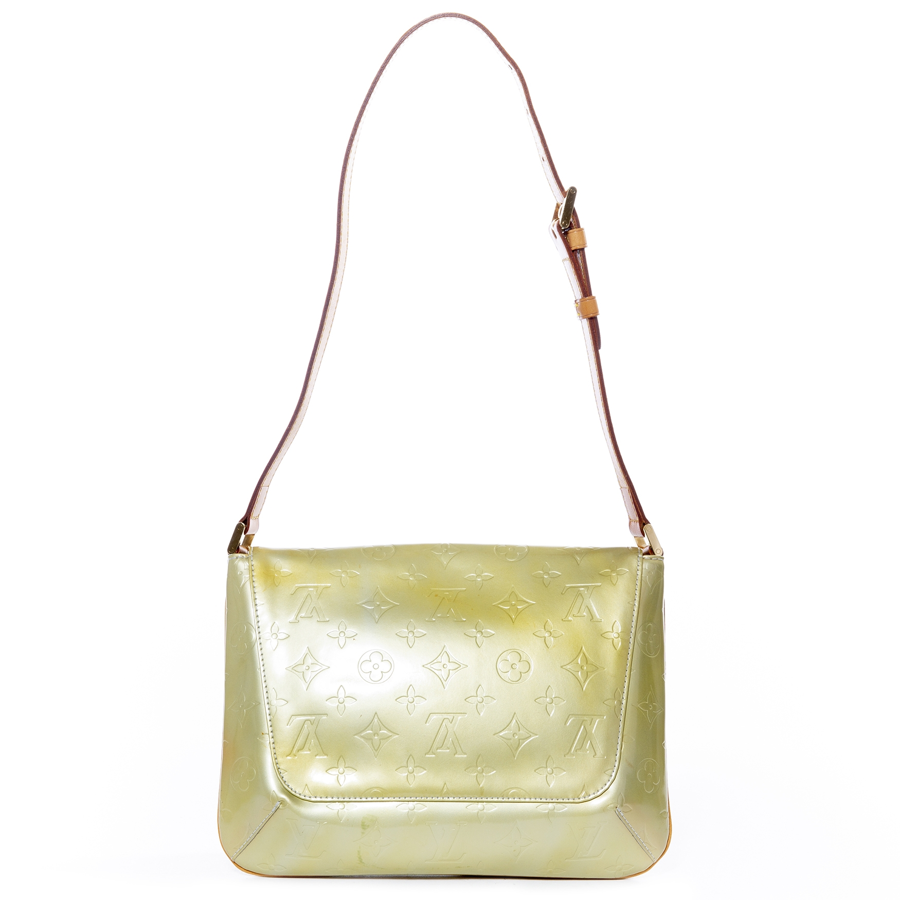 louis vuitton yellow monogram vernis thompson street bag now for sale at labellov vintage fashion webshop belgium