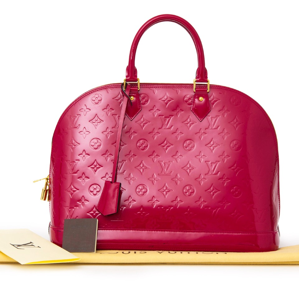 0cbe8b3afa7c4 ... Buy Louis Vuitton Alma MM Indien Pink Purple at the right price at  LabelLOV vintage webshop