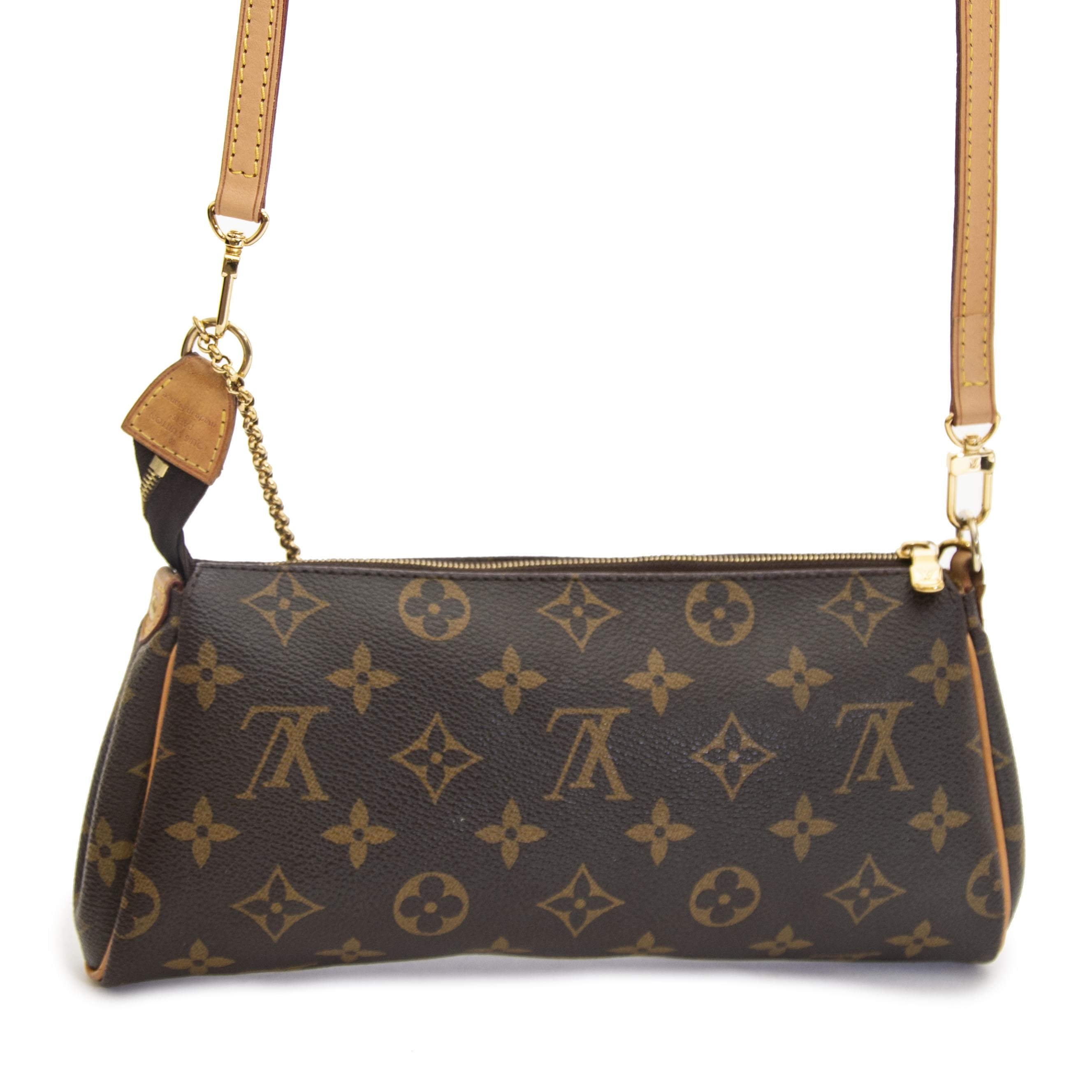 ee46f095af5 ... Louis Vuitton Monogram Eva Crossbody Bag now for sale at labellov  vintage fashion webshop belgium