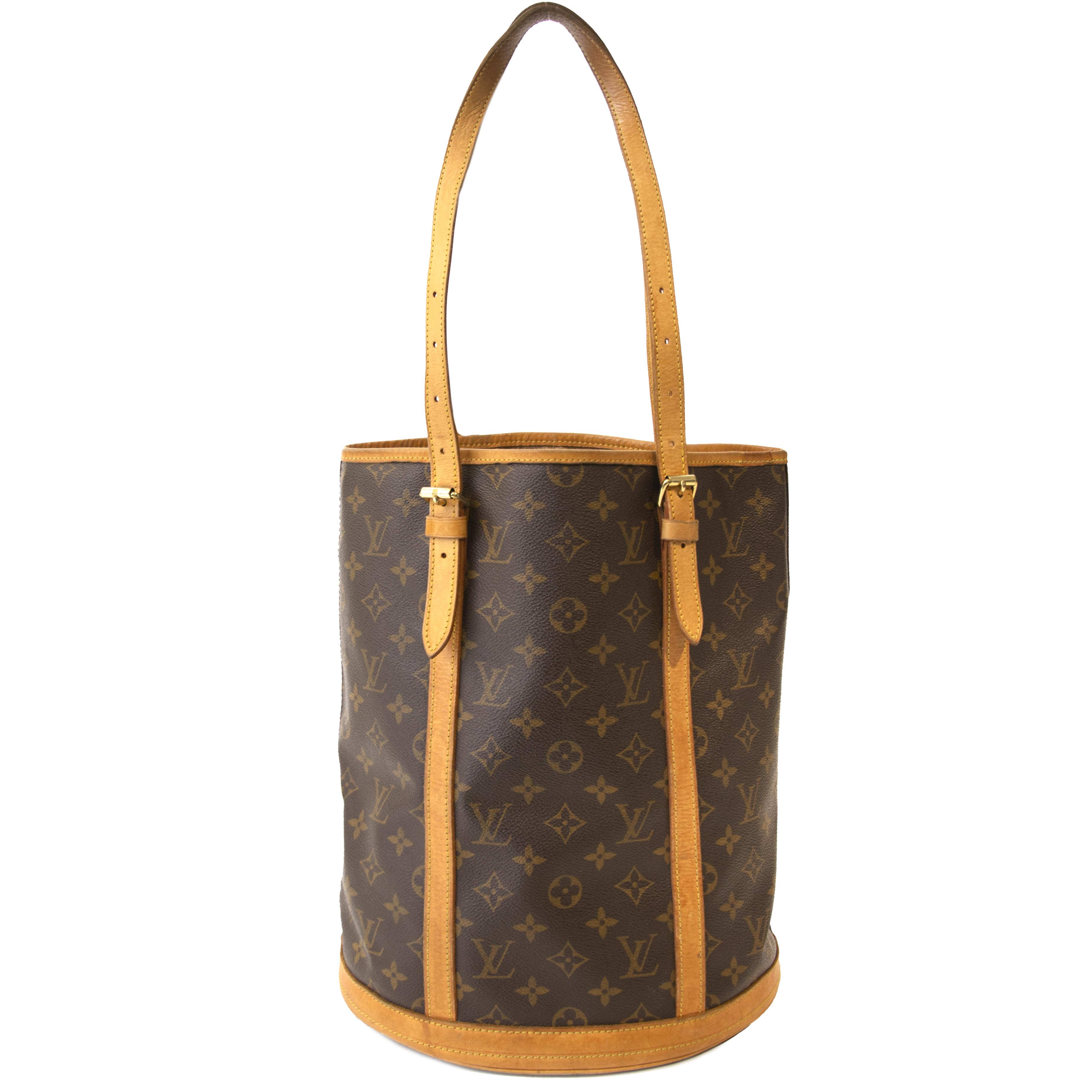 dd5c5aa708392 ... Authentic second hand vintage Louis Vuitton Bucket Tote Bag buy online  webshop LabelLOV