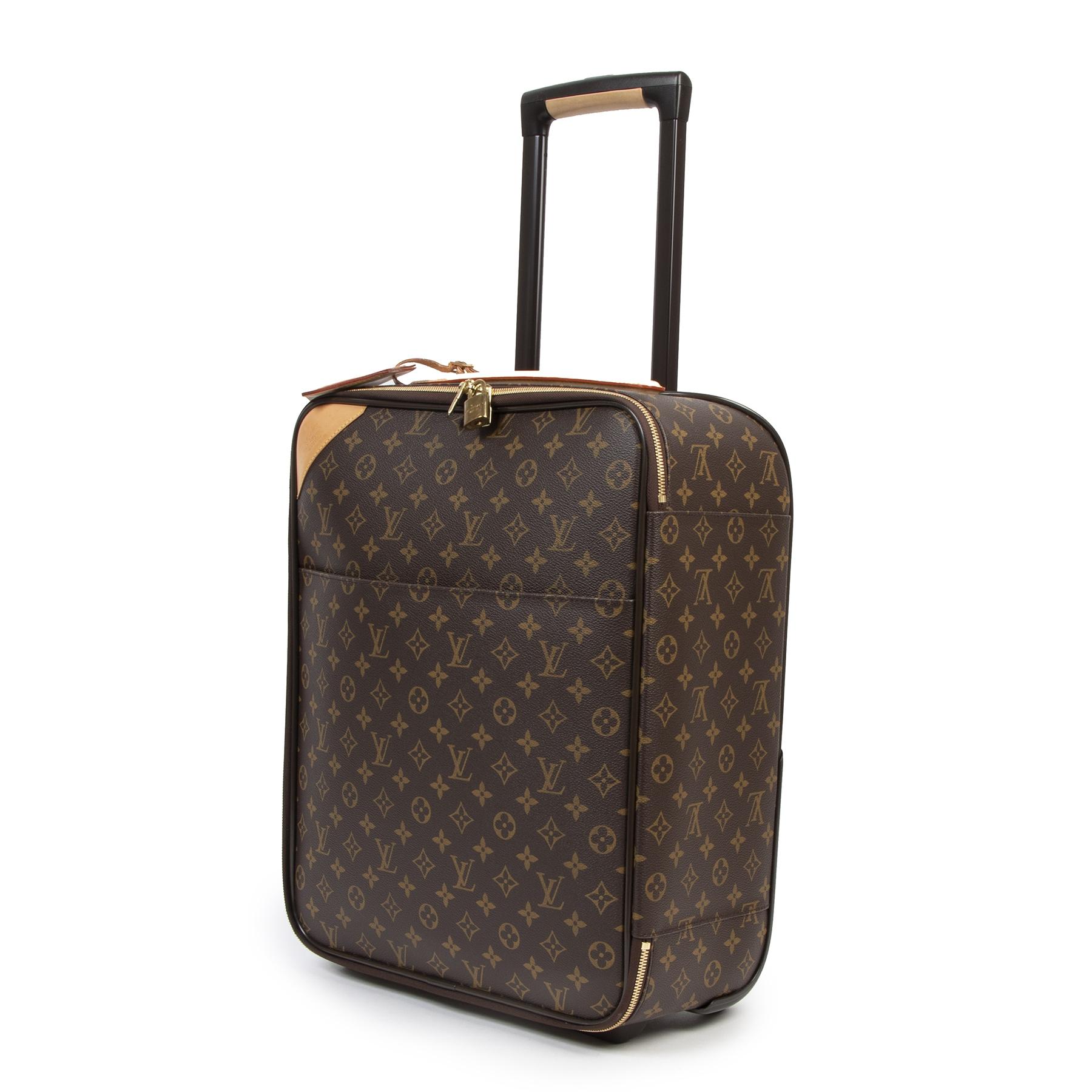 Authentic second-hand vintage Louis Vuitton Monogram Pegase 45 Suitcase buy online webshop LabelLOV