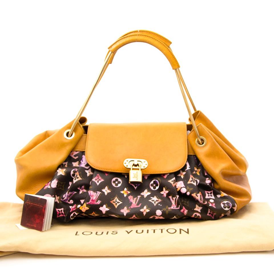 88ad7d94f54d3 ... acheter secure en ligne des sacs à mains Louis Vuitton Aquarelle  Watercolor Jamais Marron Bag
