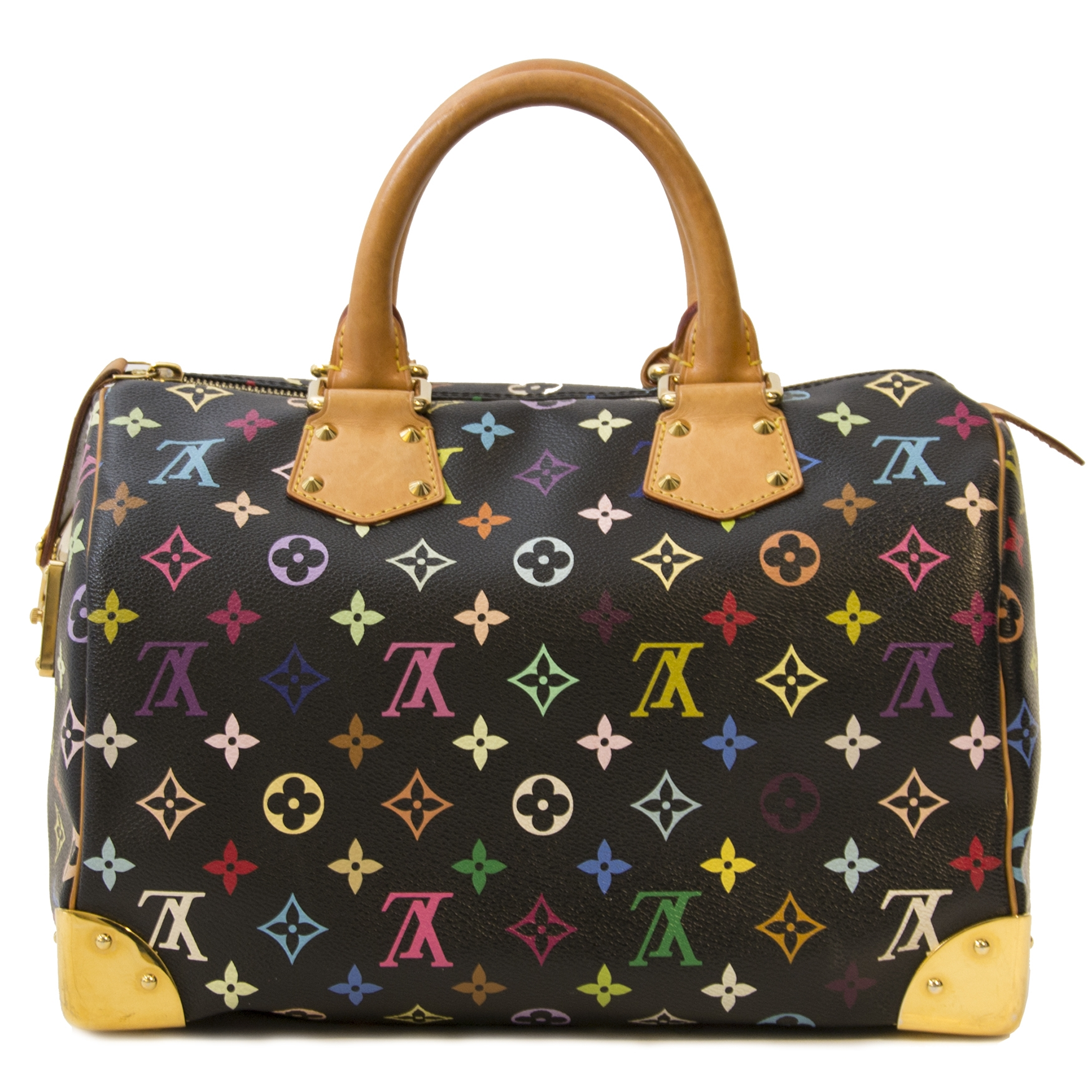 576a225a59f9 ... Louis Vuitton Black Multicolor Monogram Speedy by Takashi Murakami