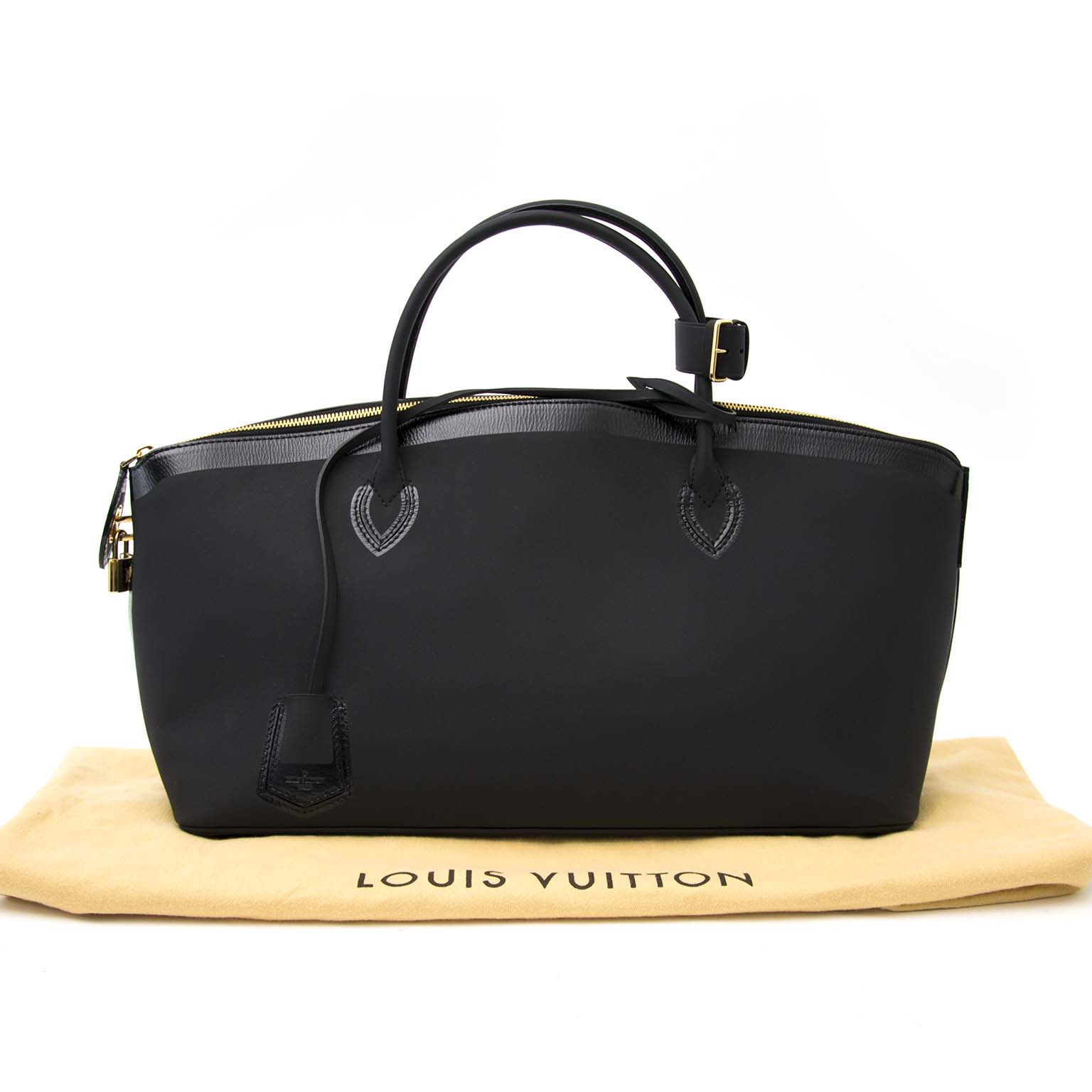 second hande tasche Louis Vuitton Cuir Obsession Lockit East-West Belgie