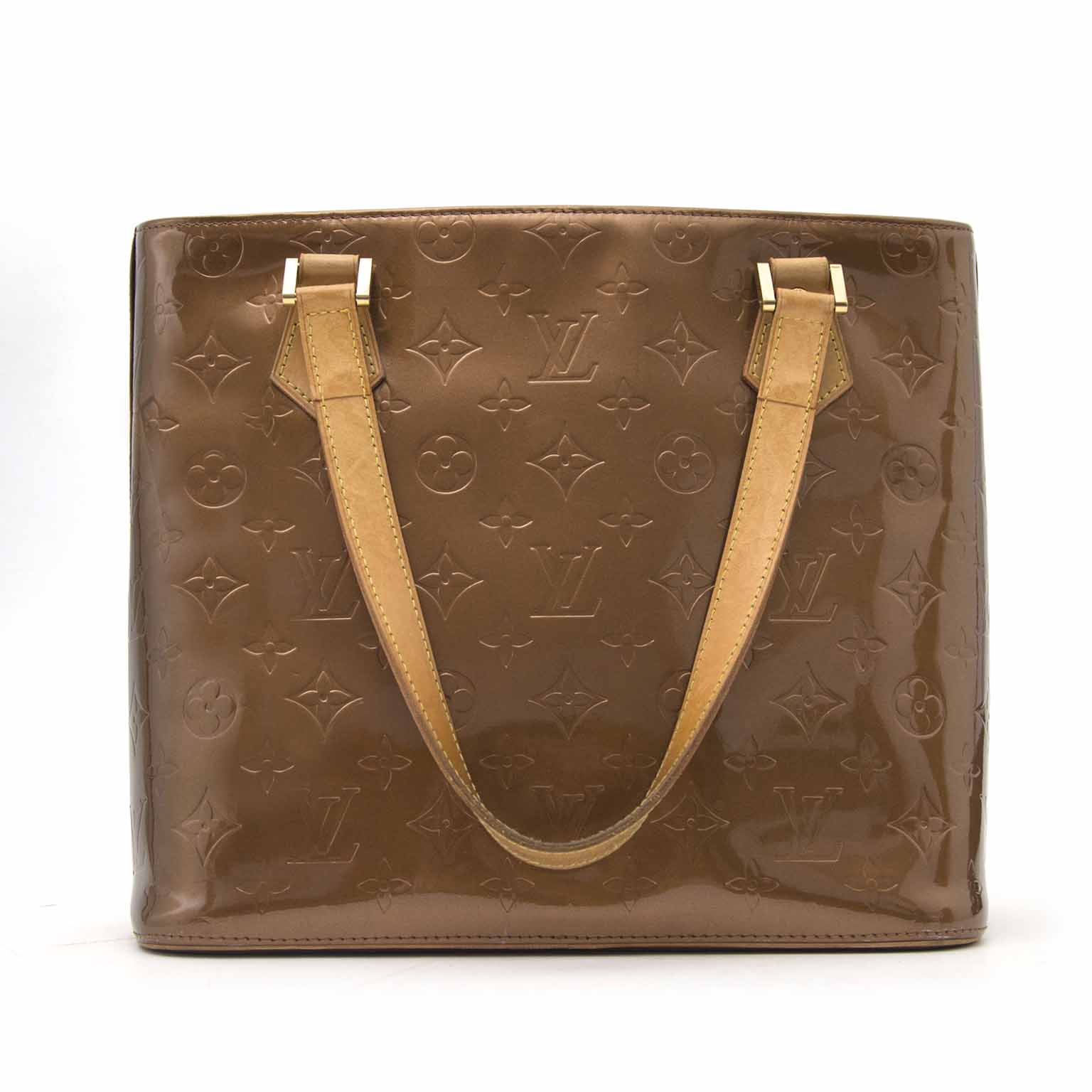 Koop deze authentieke Louis Vuitton Houston Vernis Brons kleurige designer tas Labellov