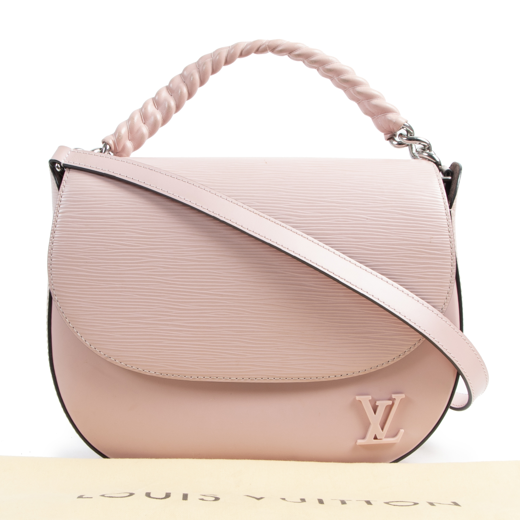 Buy and sell your authentic Louis Vuitton Rose Ballerine Epi Luna Bag